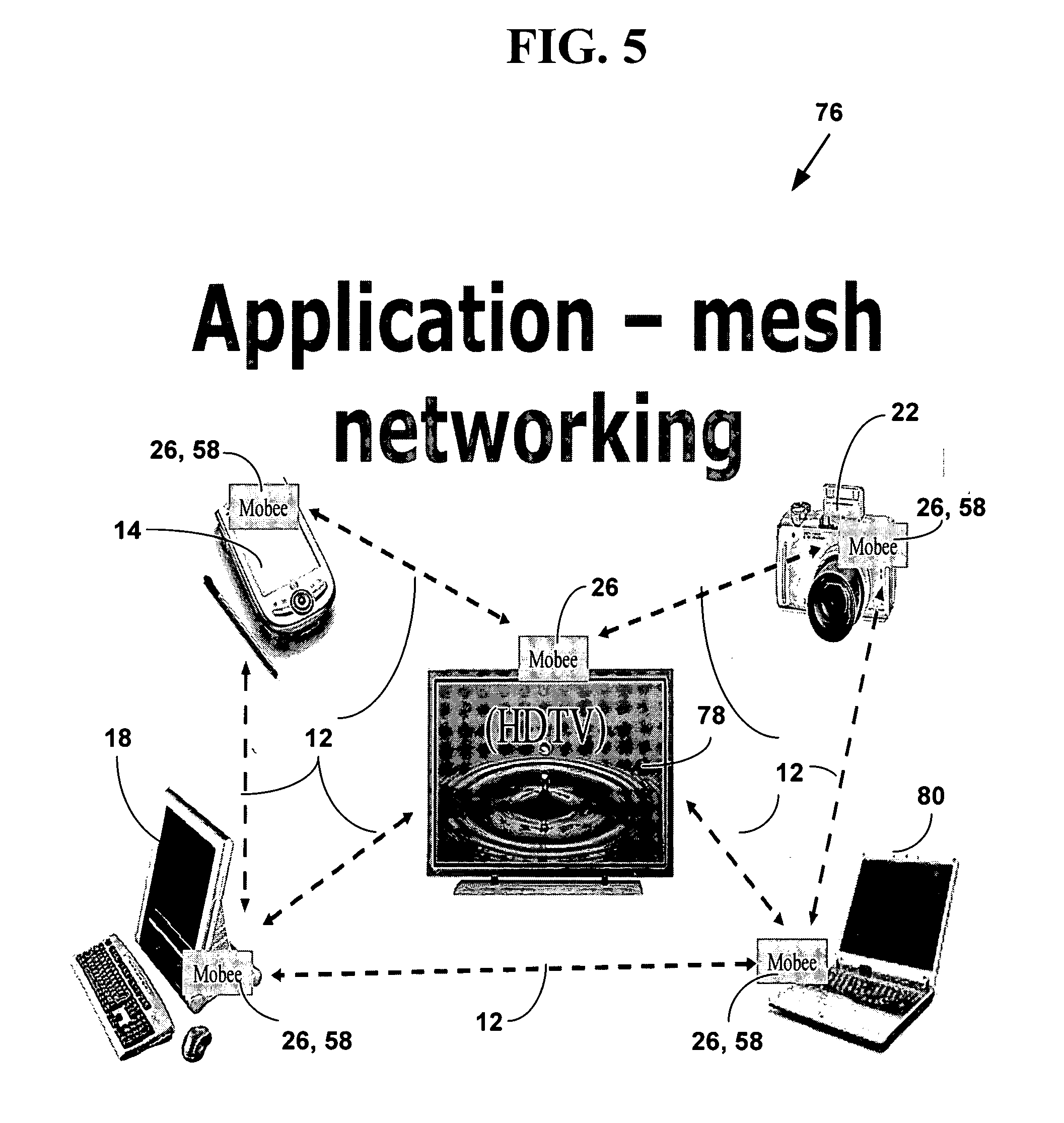 patent us20060182076 - method and system for mesh network embeded devices