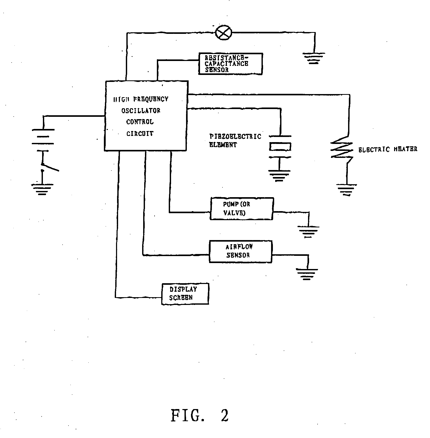 US20060196518A1 20060907 D00002 patent us20060196518 flameless electronic atomizing cigarette vaporizer wiring diagram at soozxer.org