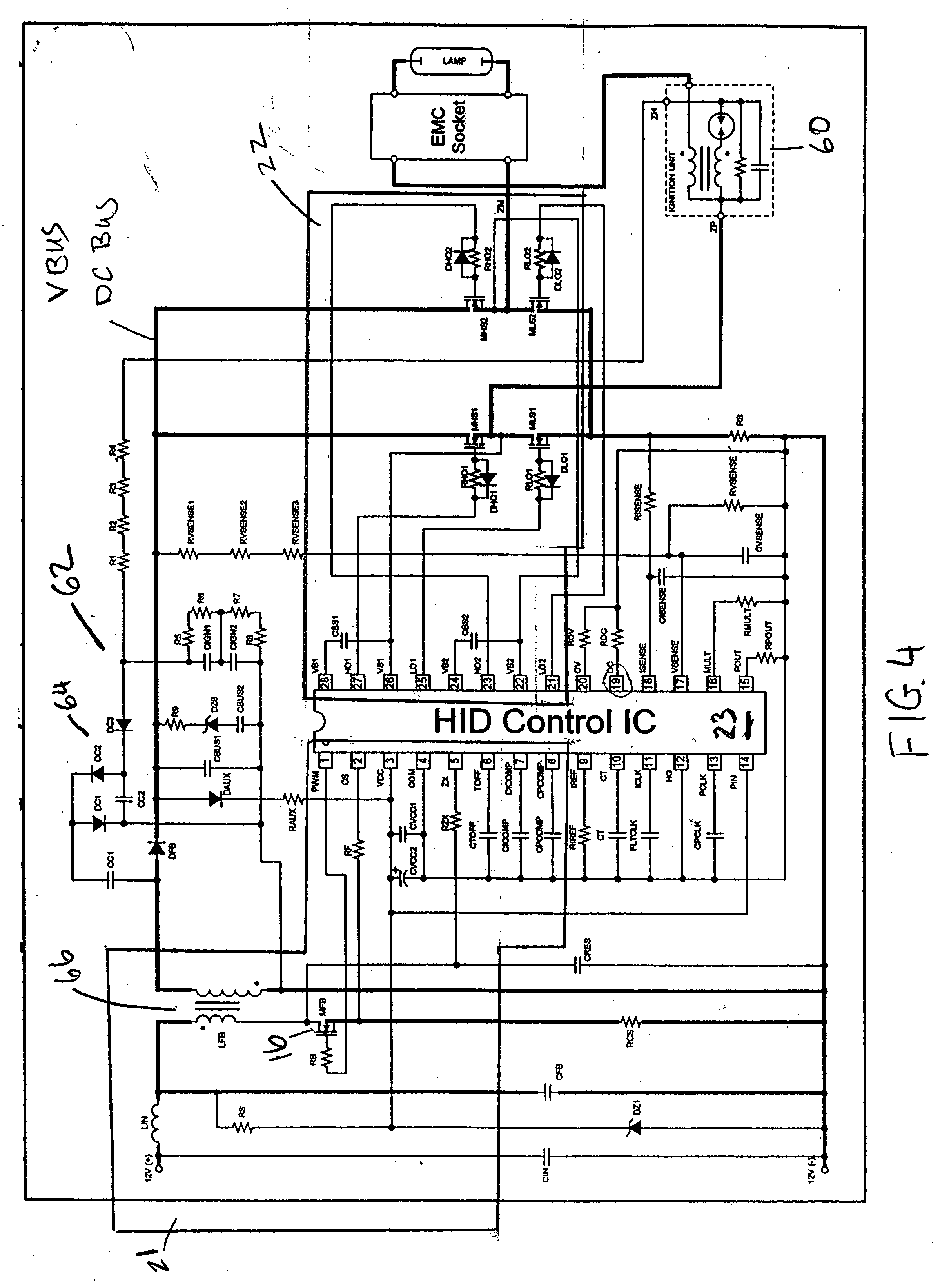 Hid Ballast Circuit Diagram Simple Wiring Options Using Incandescent And Capacitor Ledandlightcircuit Patent Us20060197470 Automotive High Intensity Discharge Lamp 4 Light
