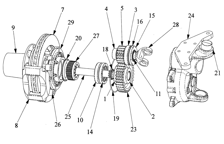 Portal Axle Design : Patent us  portal axle apparatus google patents