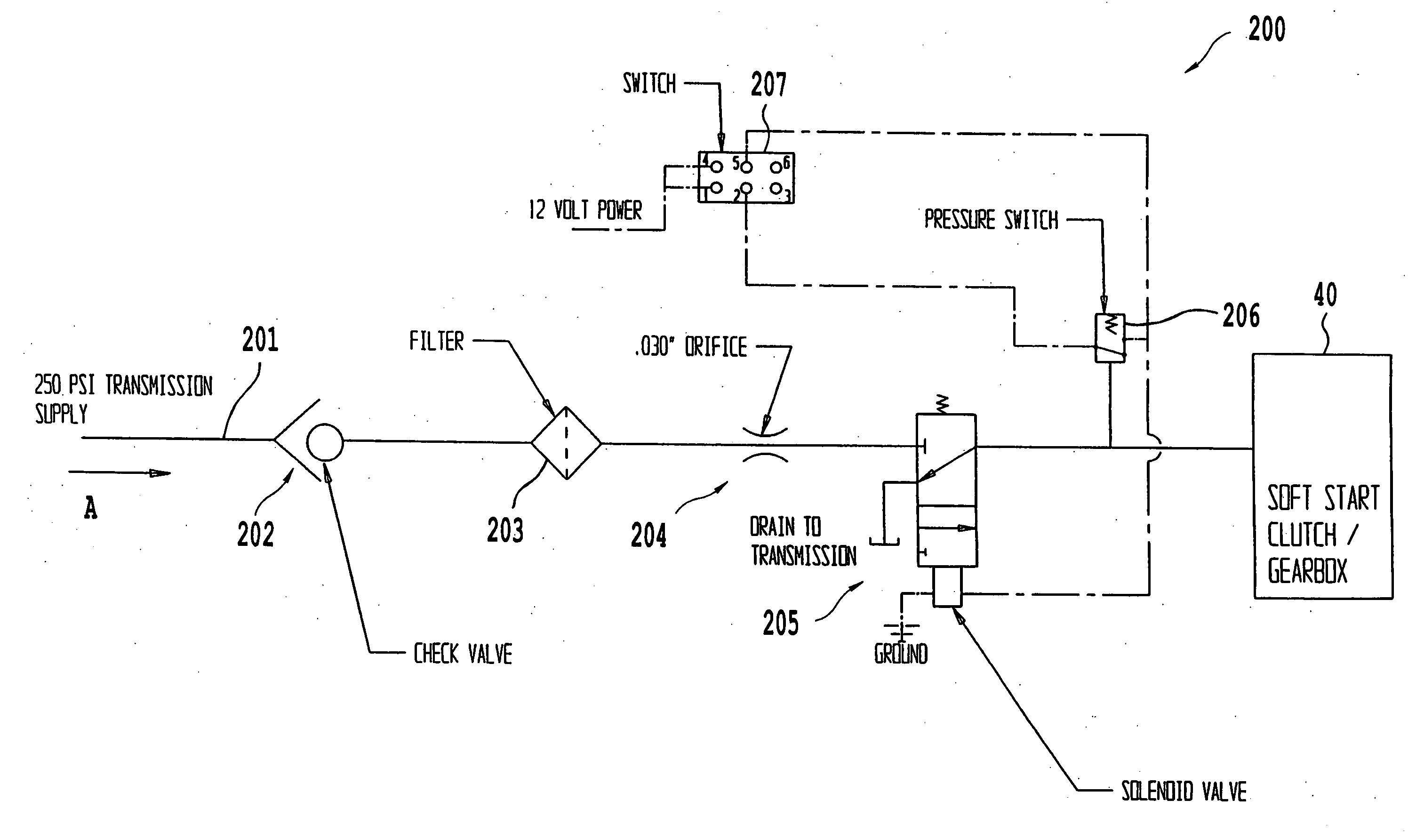 Patent Us20060214035 - System And Method Of Implementing A Soft-start Pto Clutch
