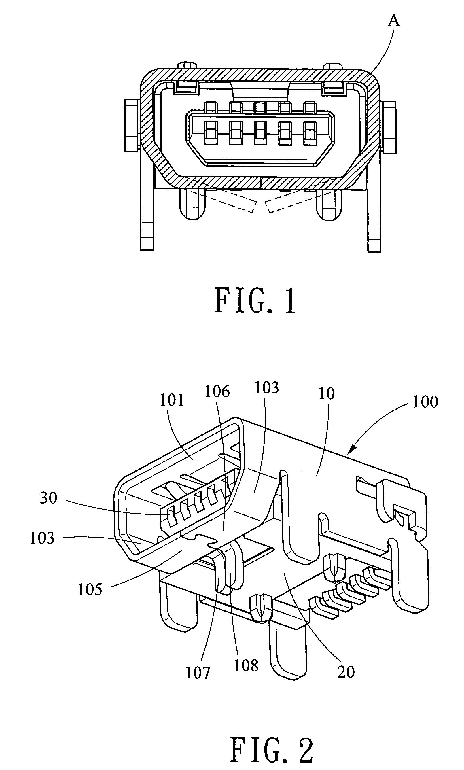 mini-usb receptacle connector