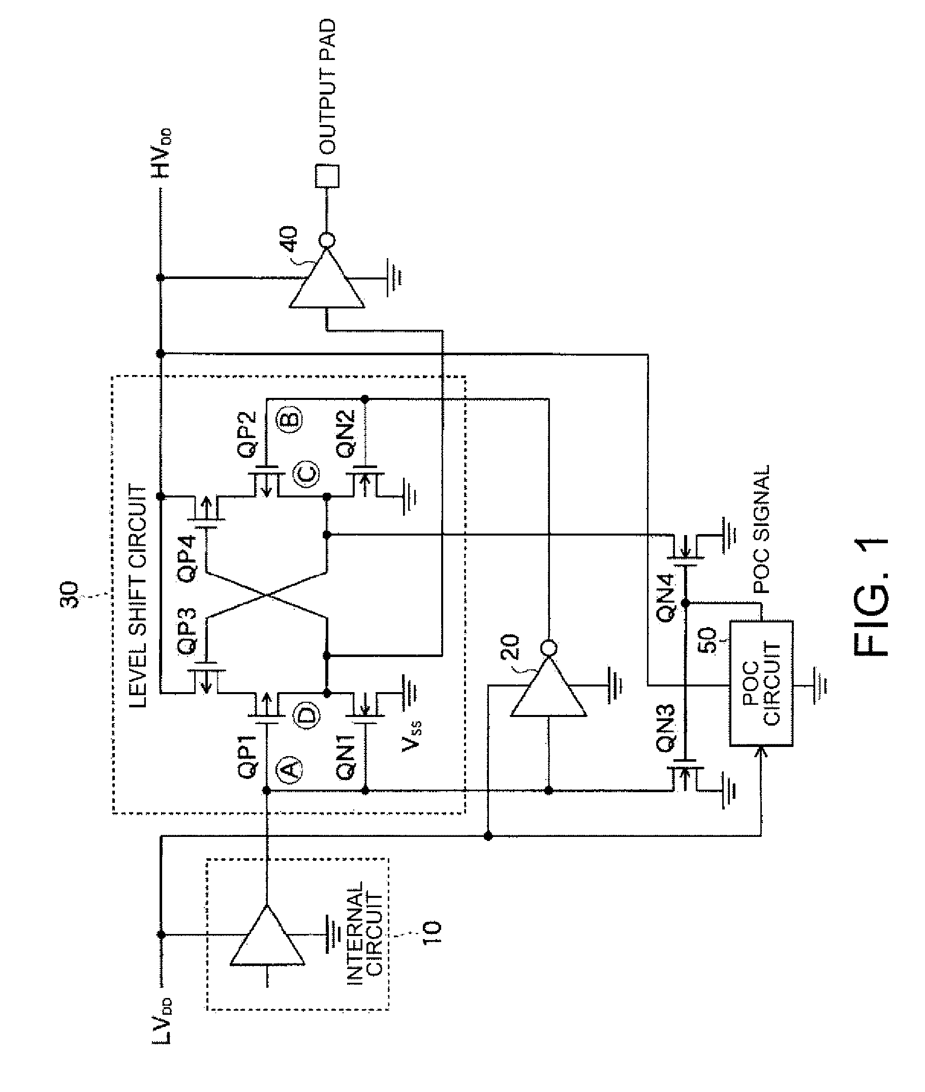 Patent Us20060279346 Semiconductor Integrated Circuit Google Patents Figure 1 Diagram For Level Shifter Drawing