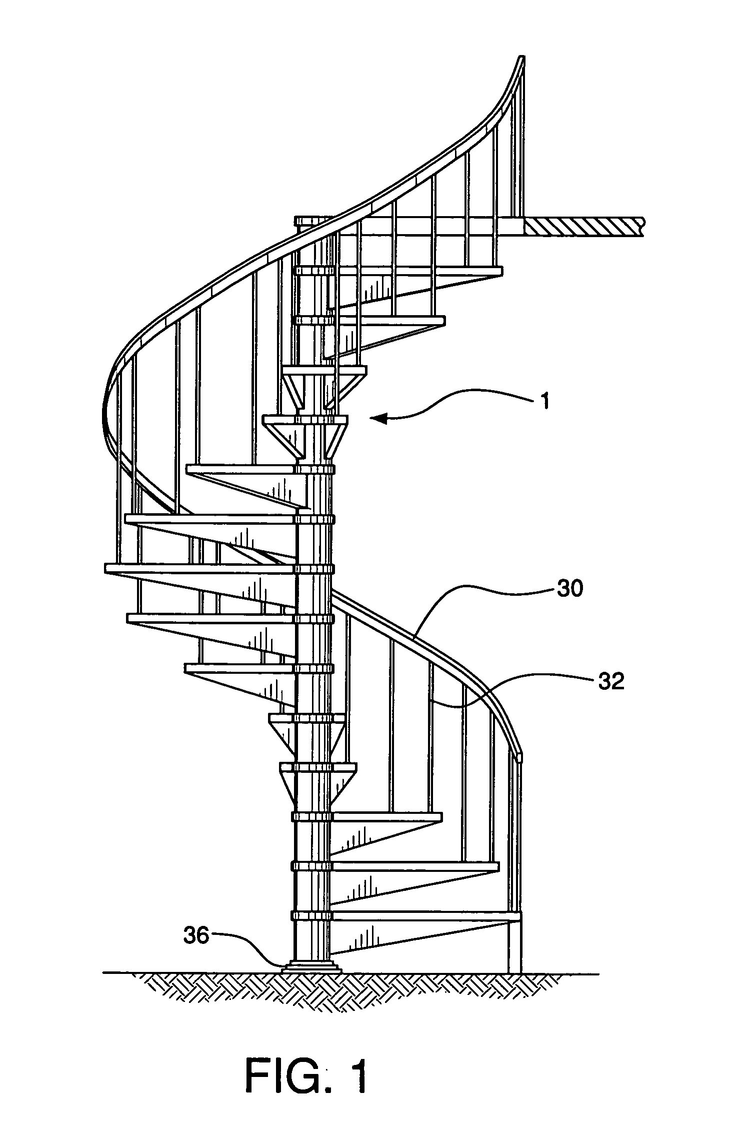 patent us20070000191 - spiral staircase kit