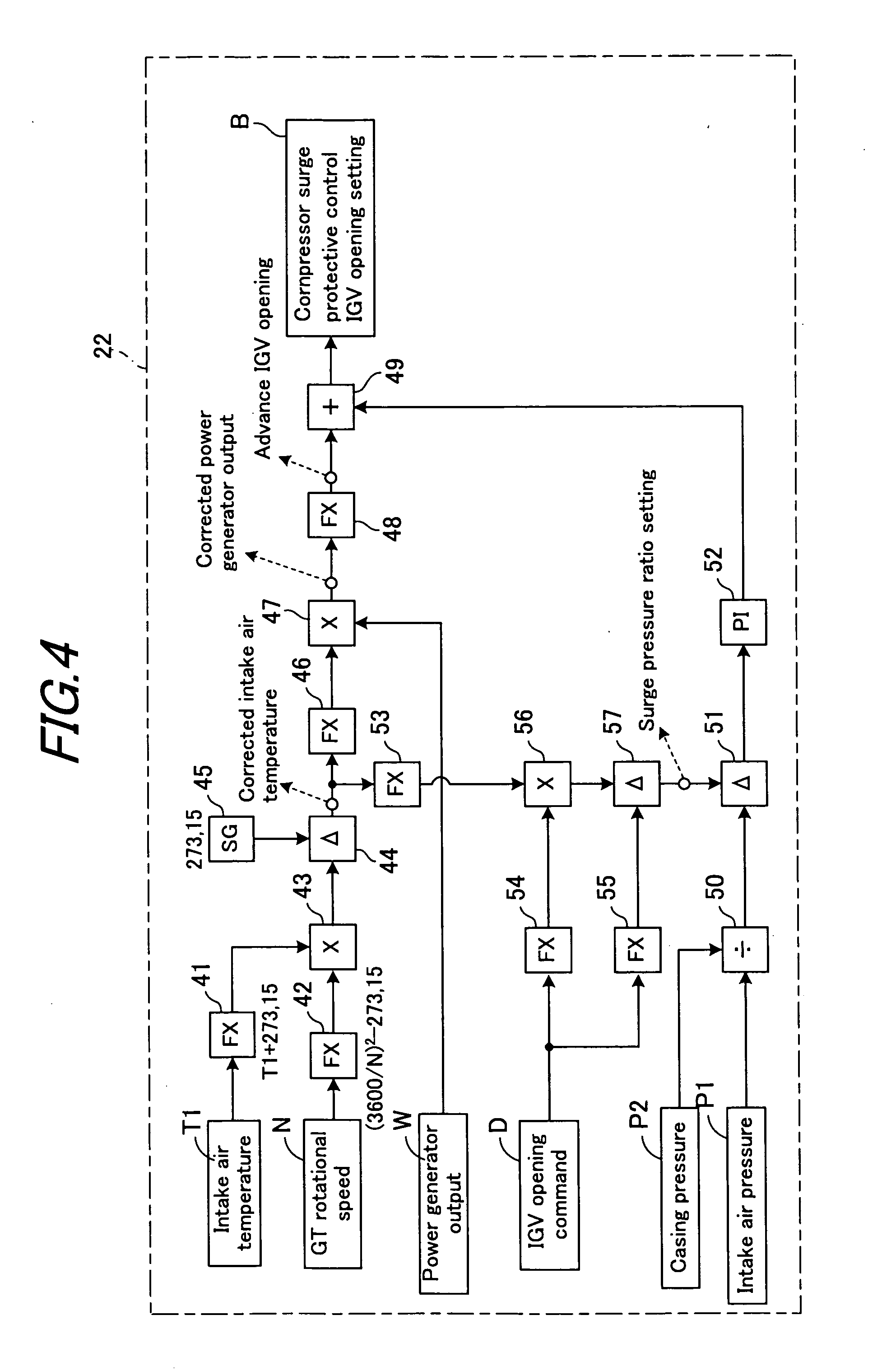 patent us20070031238 - inlet guide vane control device of gas turbine