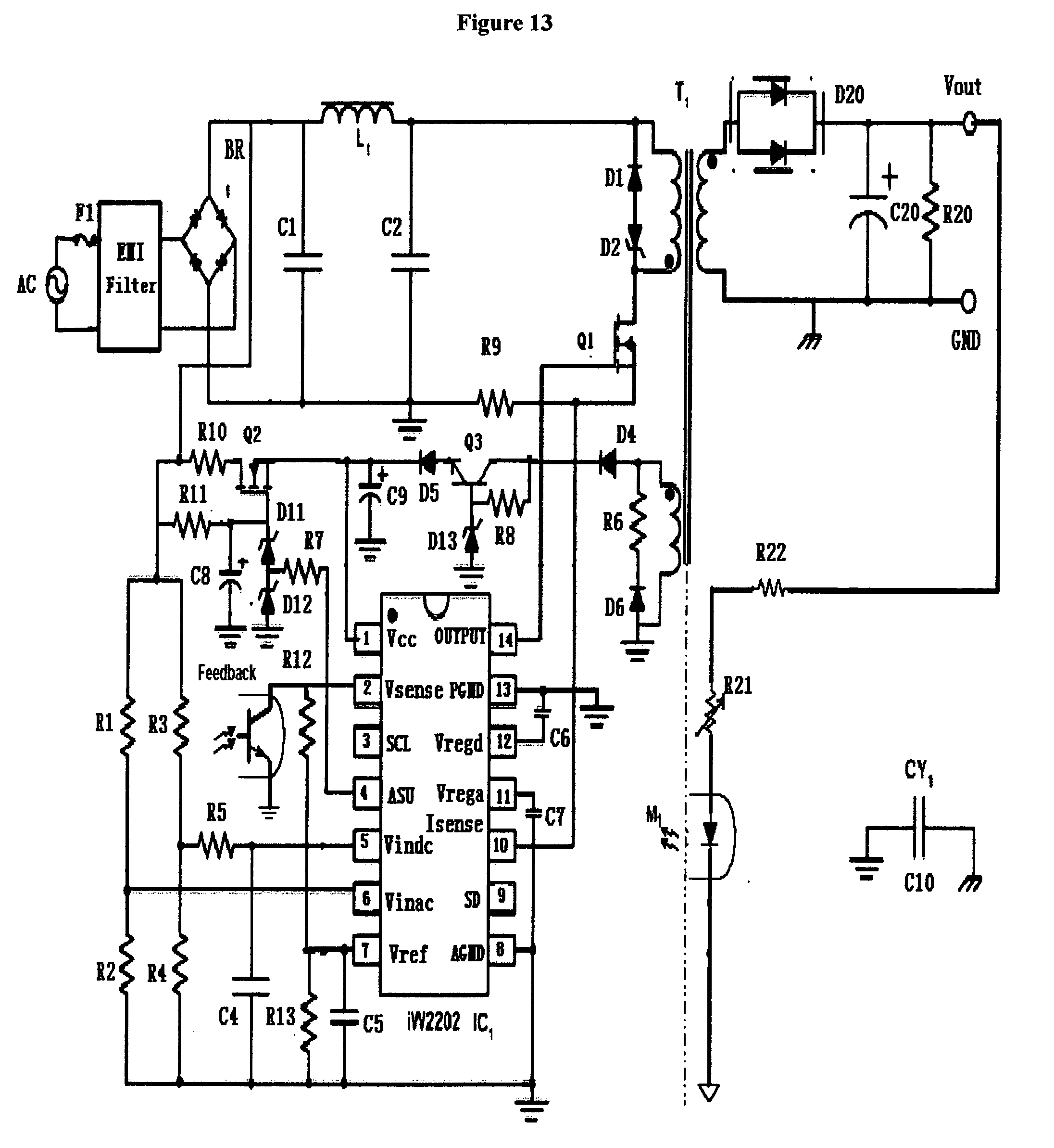 patent us20070040516 - ac to dc power supply with pfc for lamp