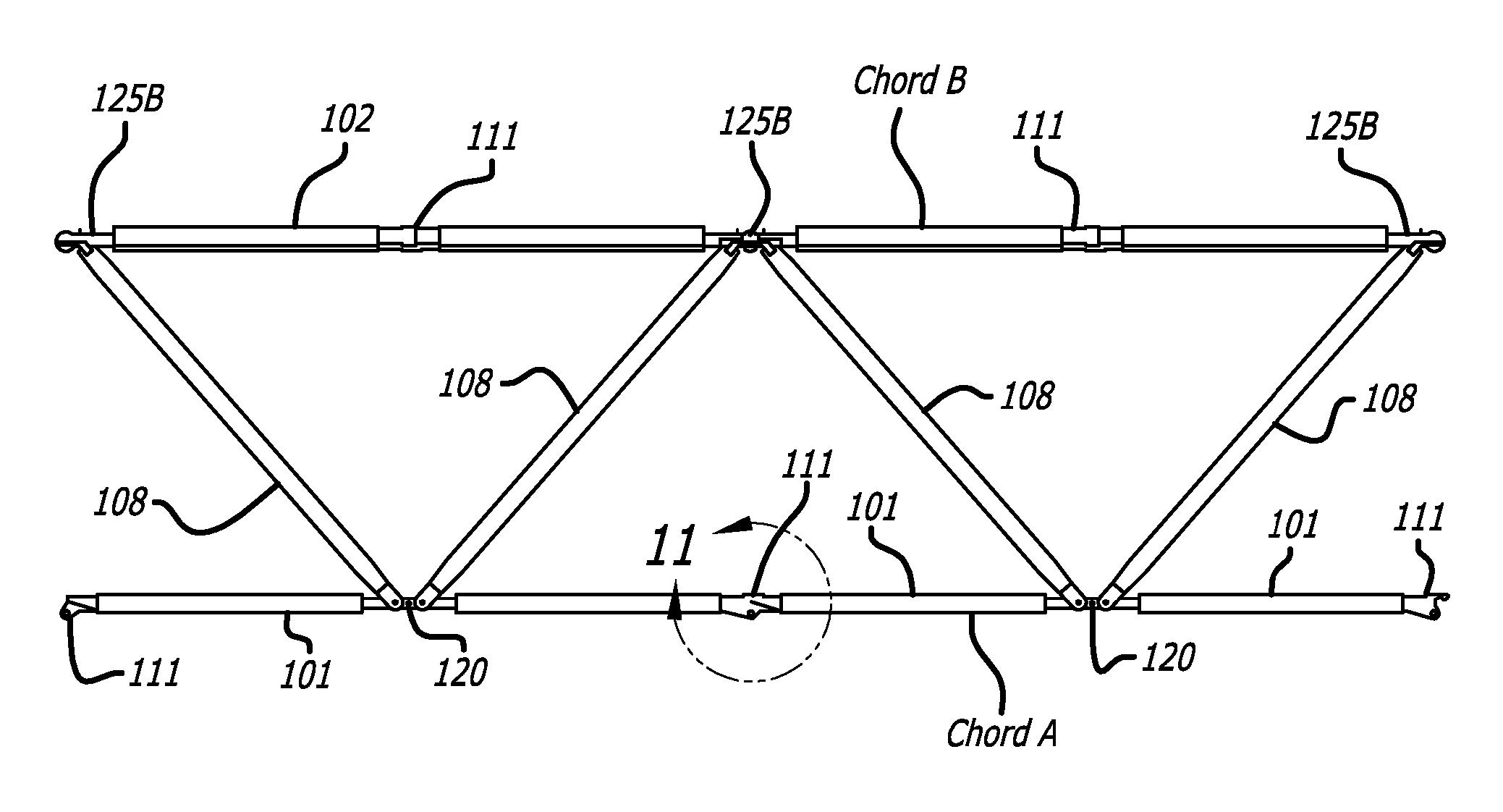 Patent us20070044415 deployable triangular truss beam with patent drawing hexwebz Choice Image