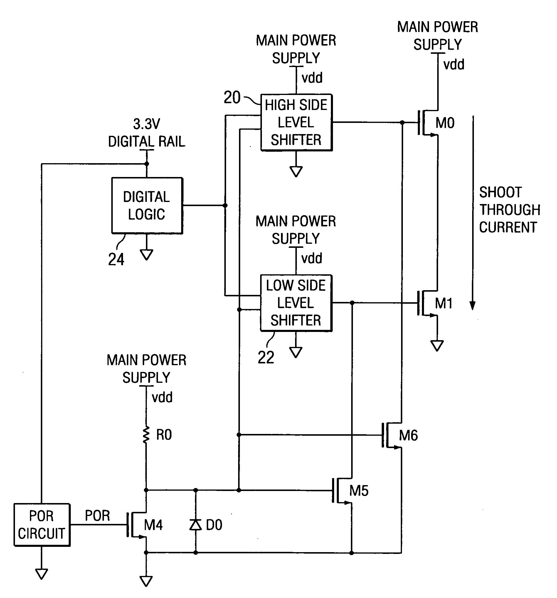 Brevet Us20070080708 H Bridge Circuit With Shoot Through Current Diagram Patent Drawing