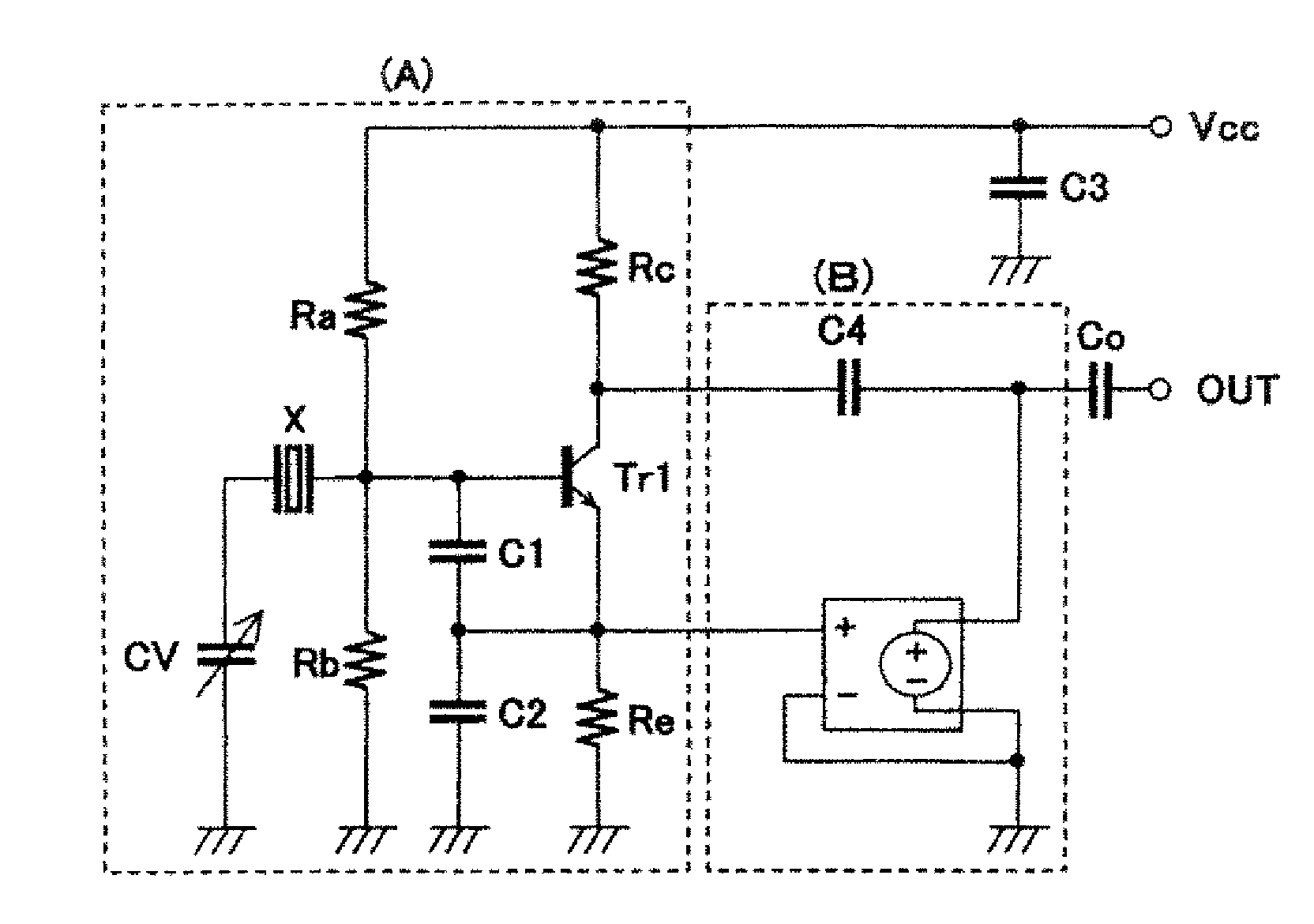 Brevet Us20070090889 High Frequency Colpitts Oscillation Circuit Crystal Oscillator Tutorial Patent Drawing
