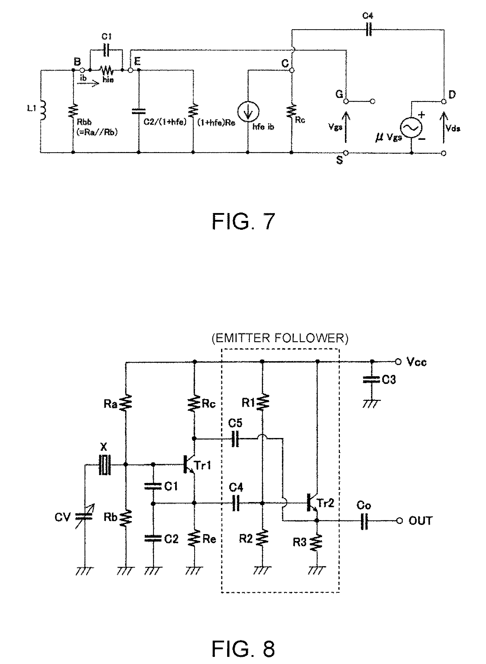 Brevet Us20070090889 High Frequency Colpitts Oscillation Circuit Emitter Follower Patent Drawing