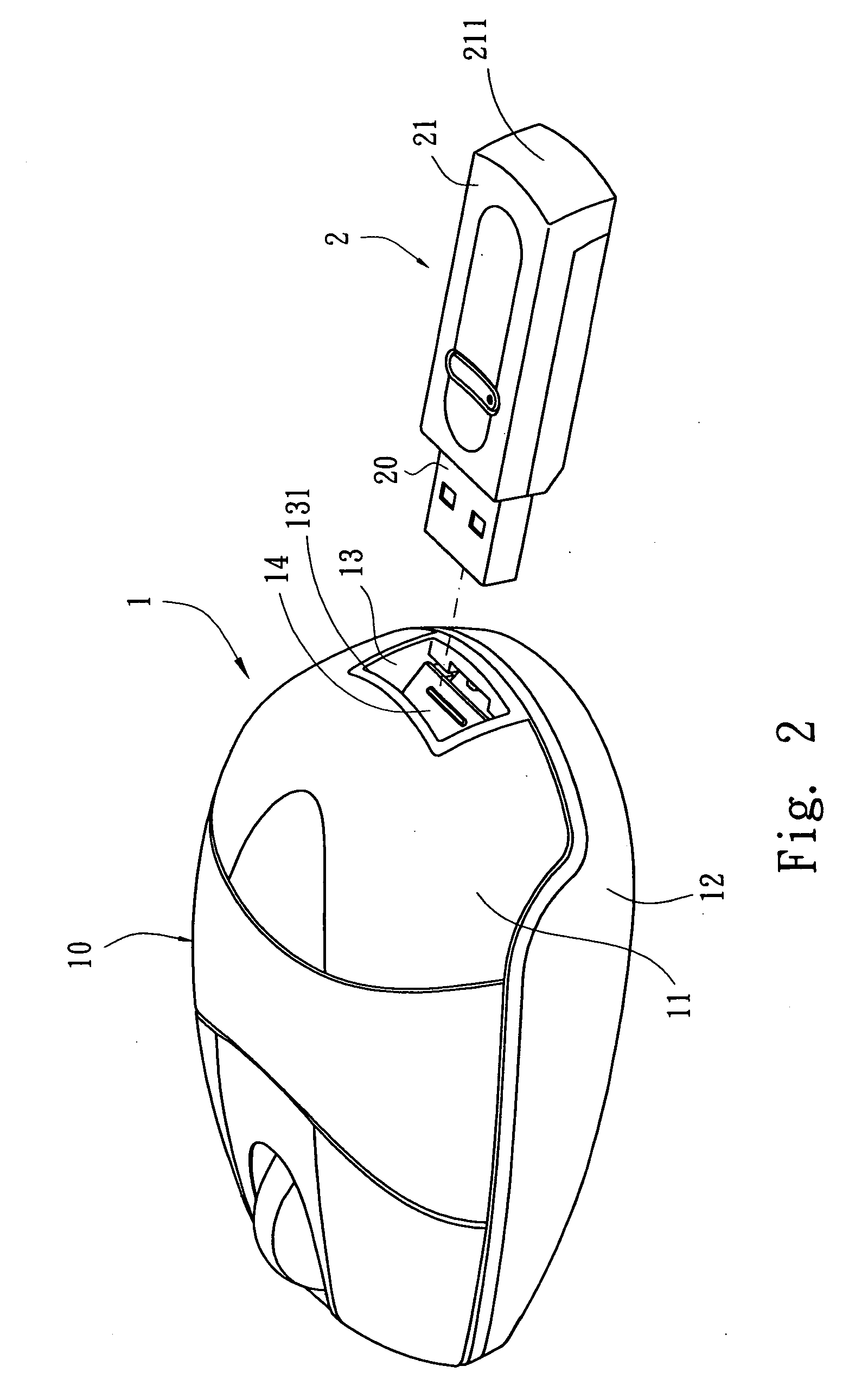 patent us20070115259 - receiving structure for receiver of wireless mouse
