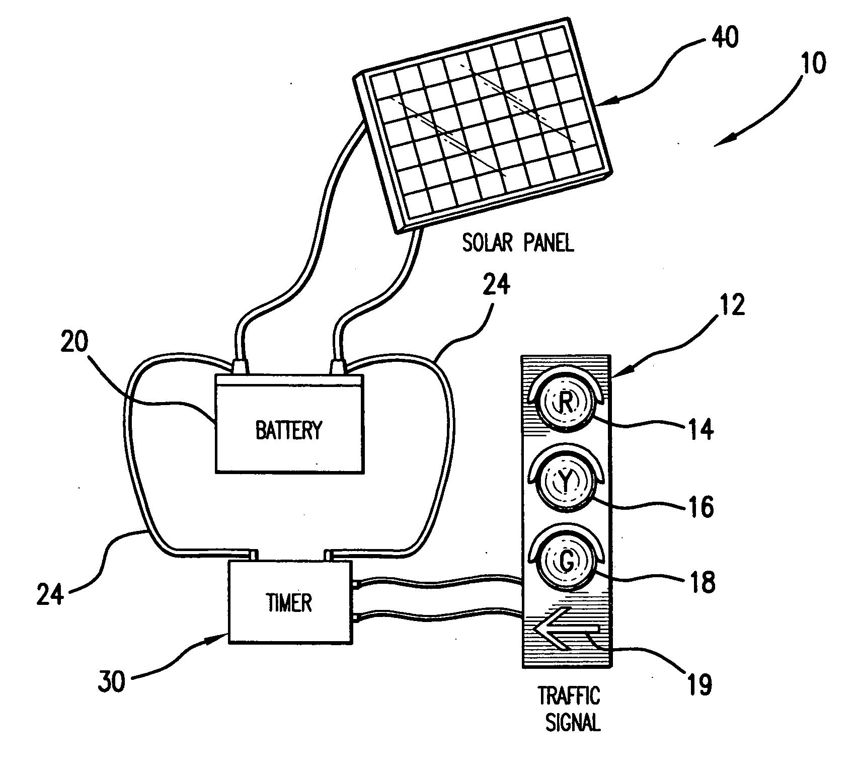 patent us20070126599 - solar power traffic light
