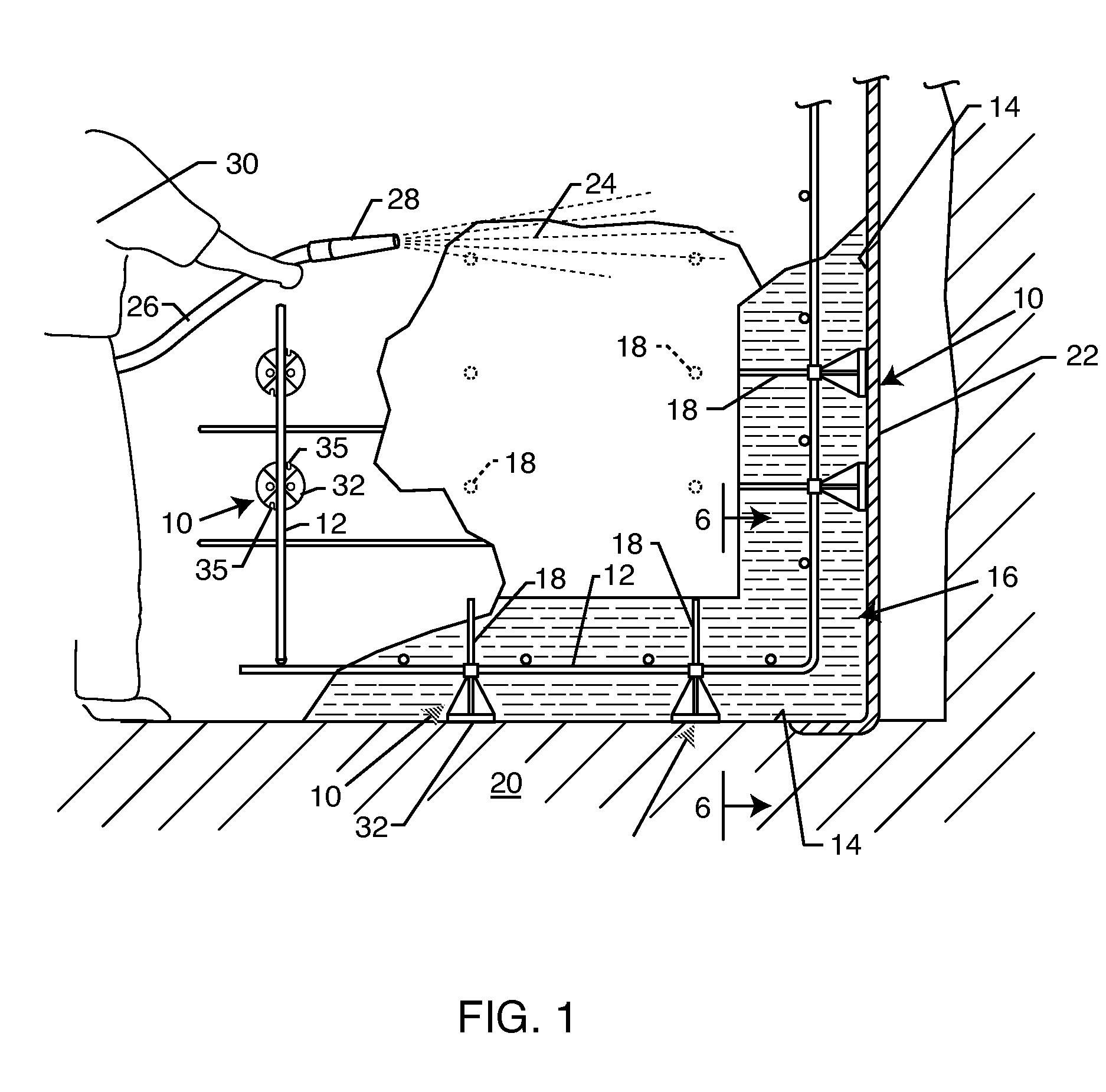 Patent US Rebar chair with depth gauge Google Patents