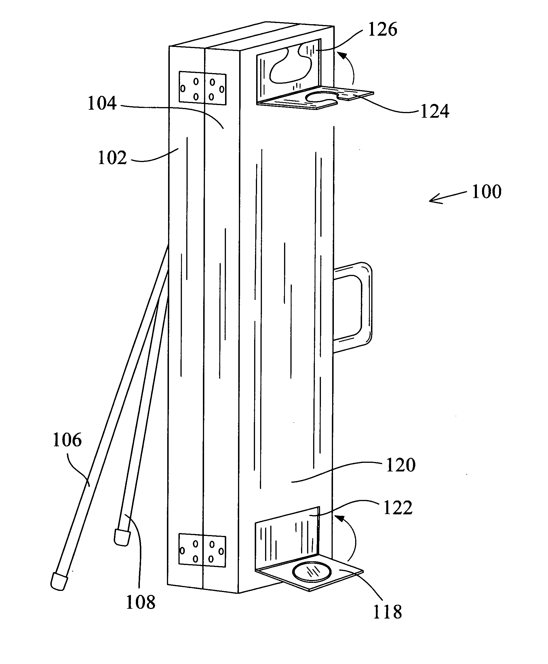Patent us20070158509 pool cue case of musicians for Cue rack plans