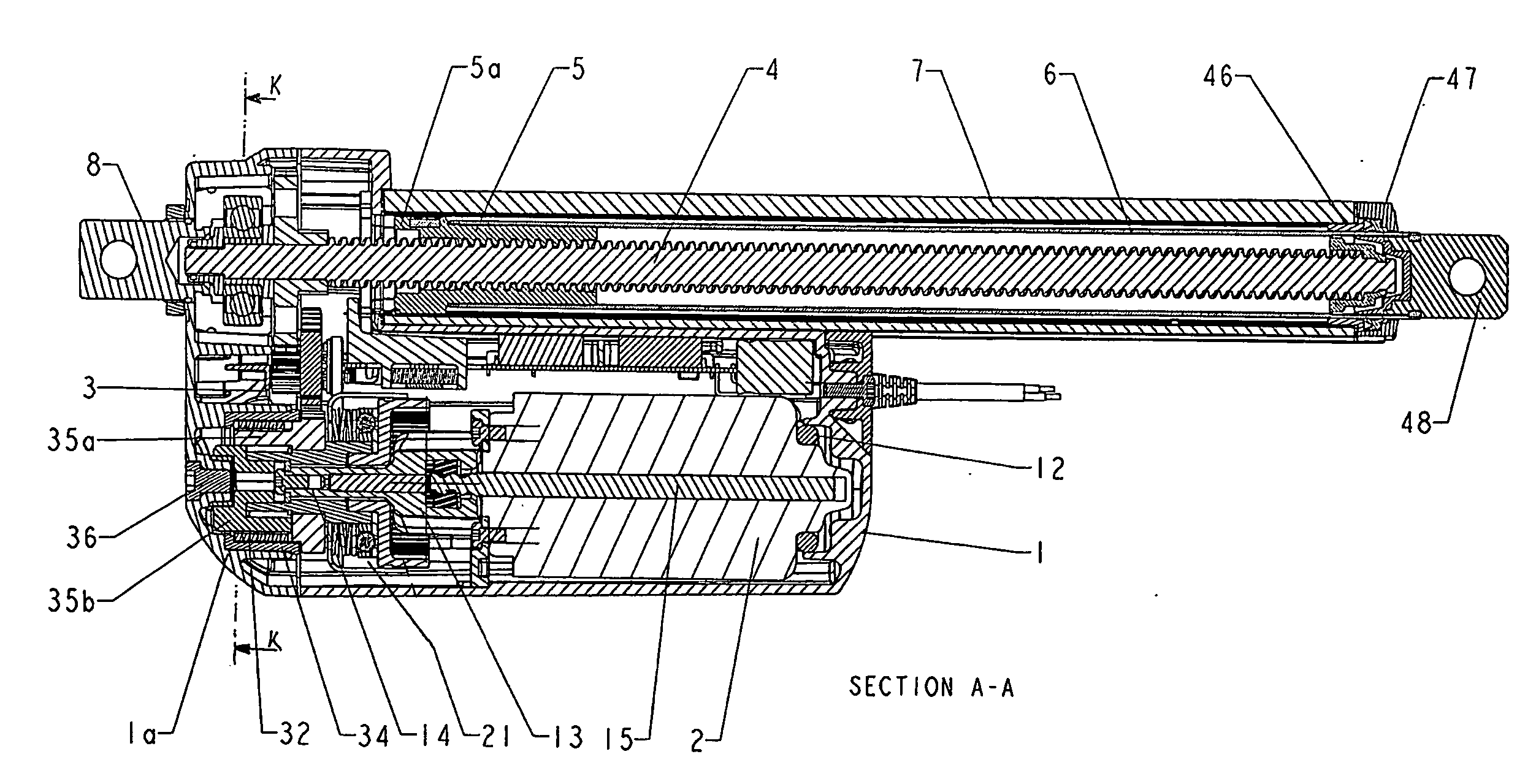patent us20070169578 - linear actuator