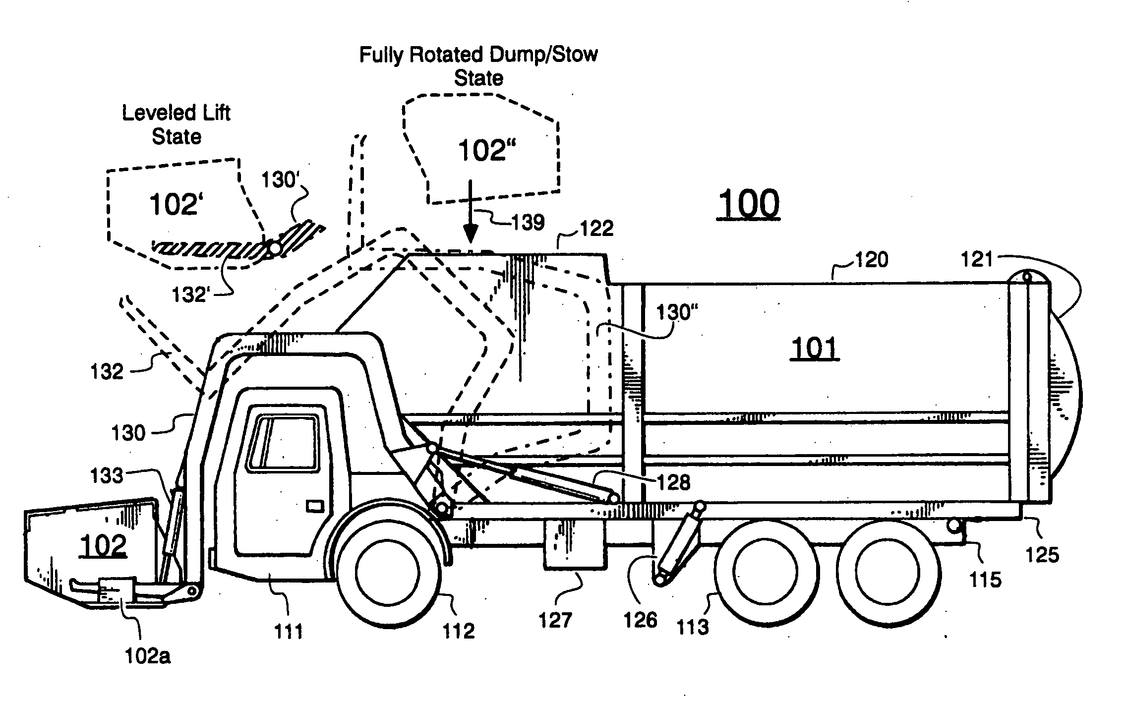 diagram of hydraulic system on dump truck