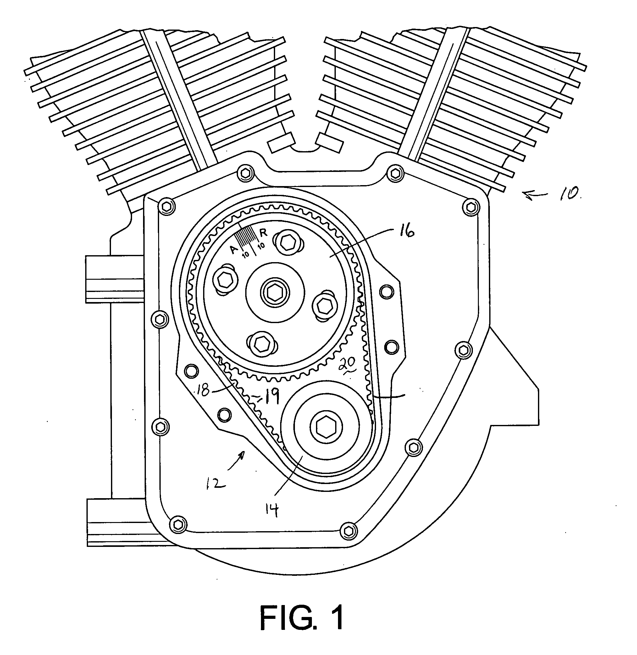 patent us20070193542 - air cooled twin cam v-twin motorcycle engine timing belt system
