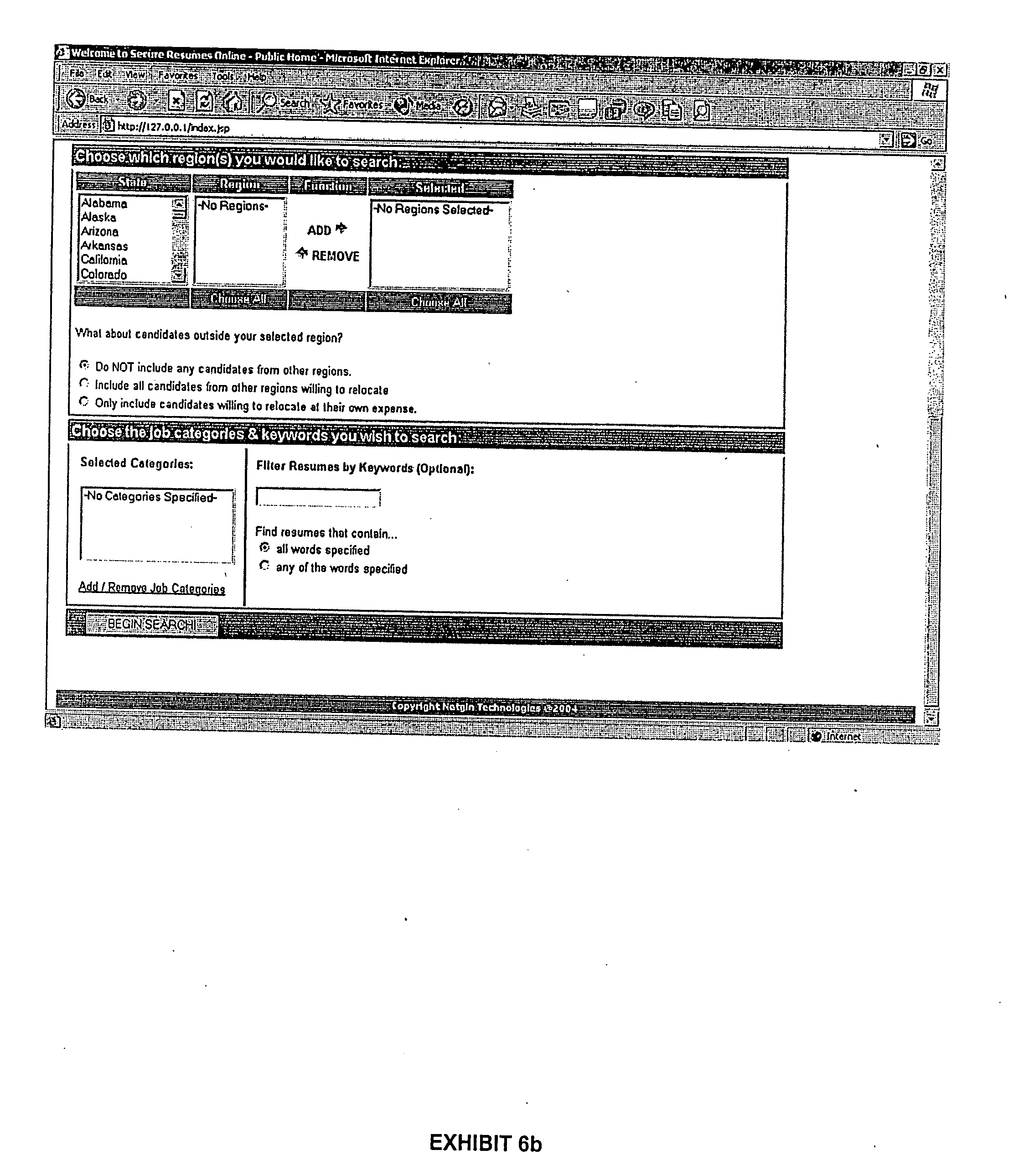 patent us20070203776 method of displaying resume over the