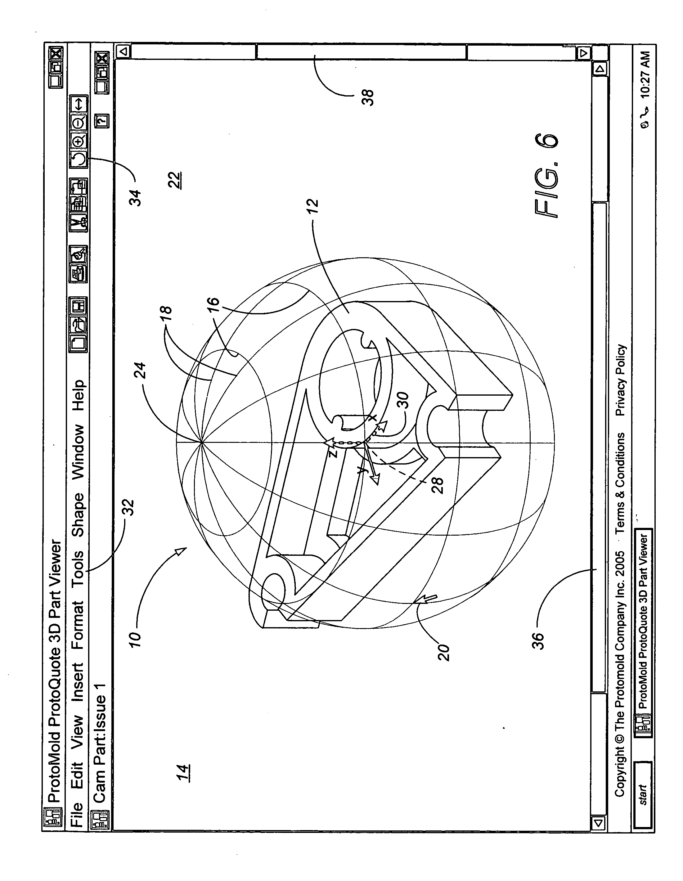 Patent us20070206030 graphical user interface for three for 3 dimensional drawing software