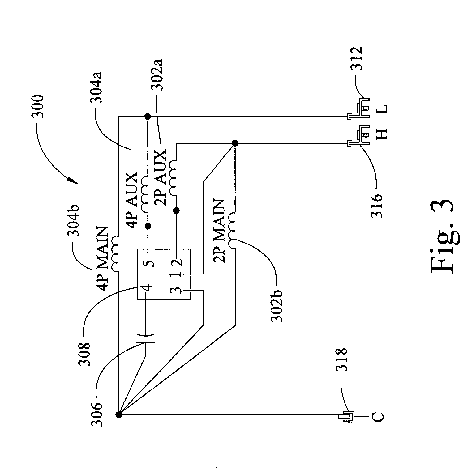 patent us20070229020 - multi-speed permanent split capacitor motors