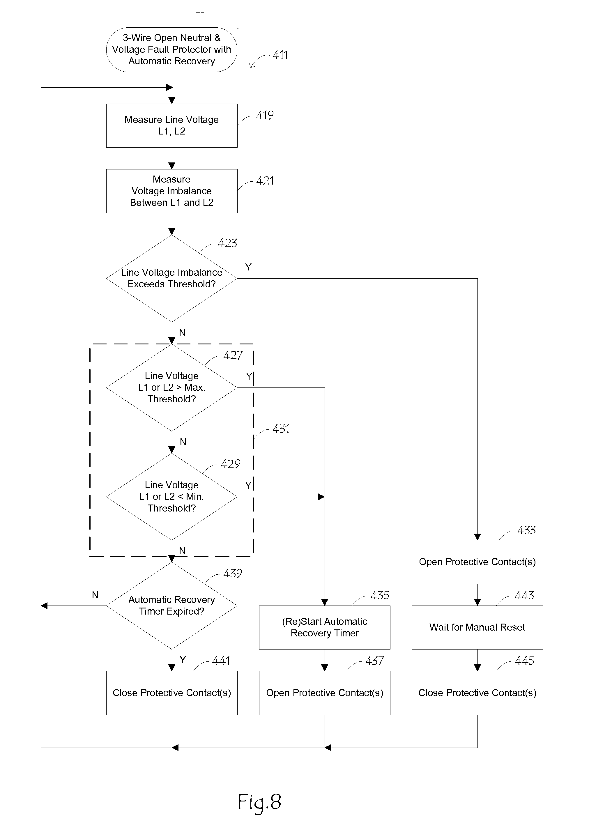 patent us method and apparatus for open neutral fault patent drawing