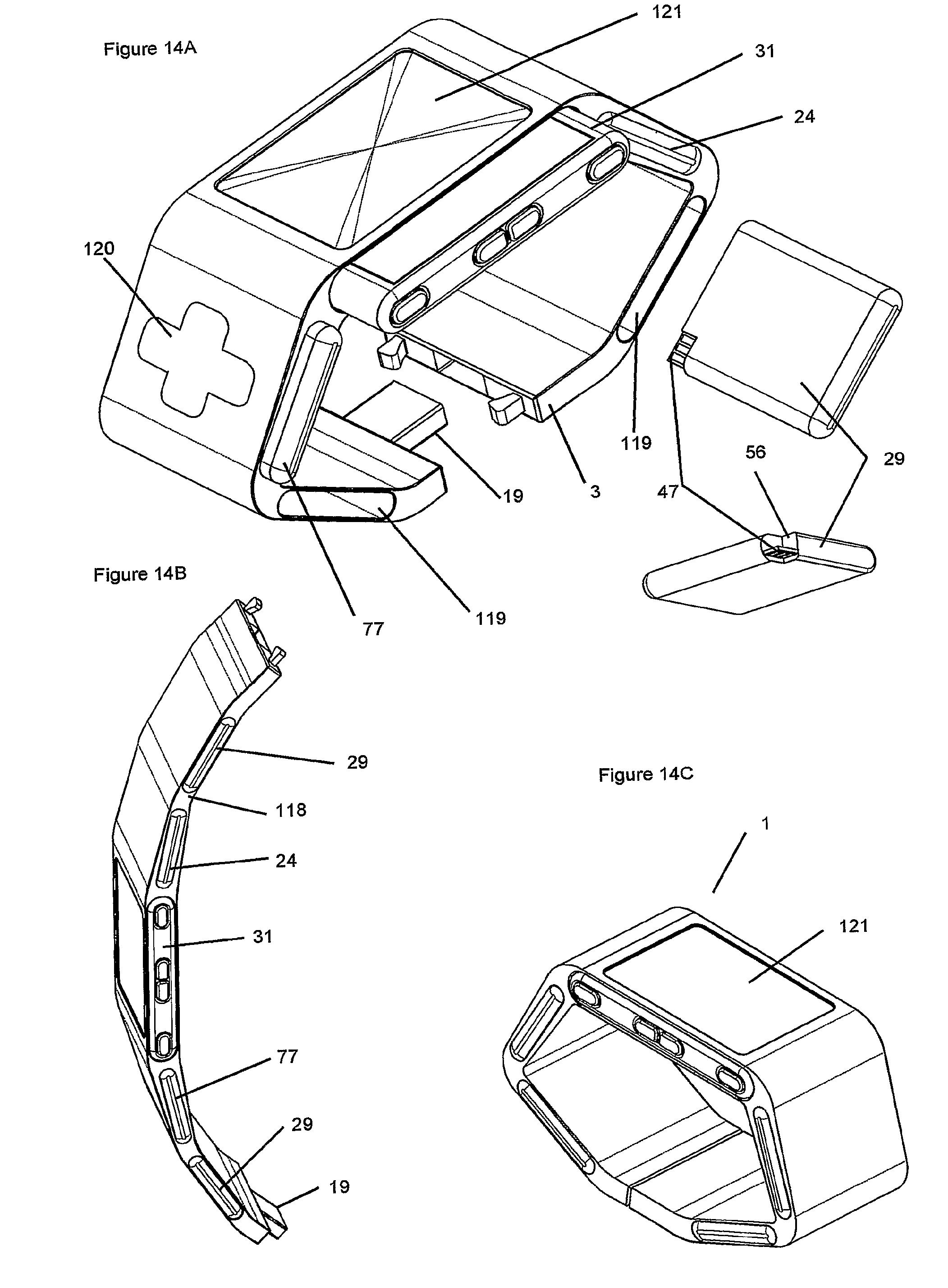 patent us20070279852 wearable modular interface strap google on sim radio wiring diagram battery power room
