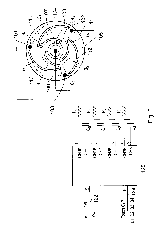 patent us20070291016 - capacitive position sensor