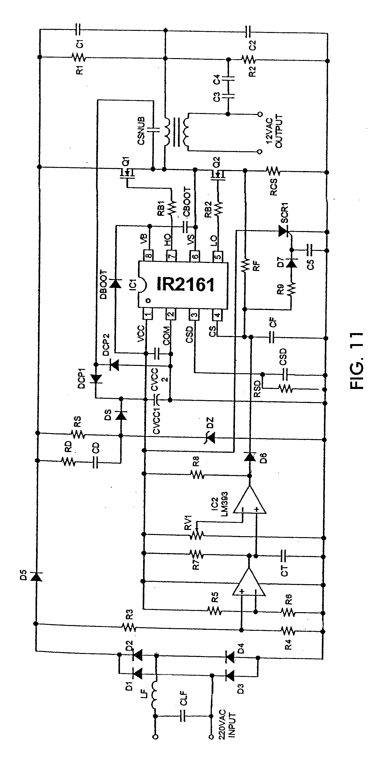 Patent Us20080018268 Applications Of Halogen Converter Control Ic Peak Detector Circuit Using Lm393 Electronic Circuits And Diagram Drawing