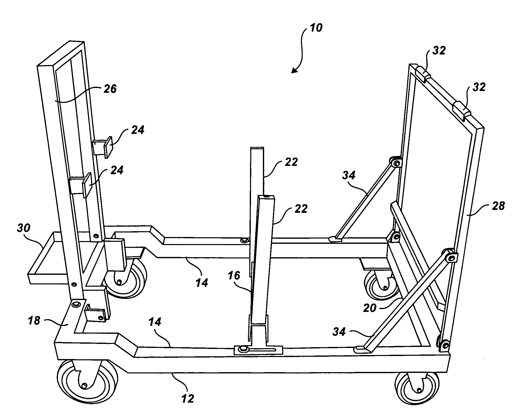 patent us20080023618 - collapsible engine test stand