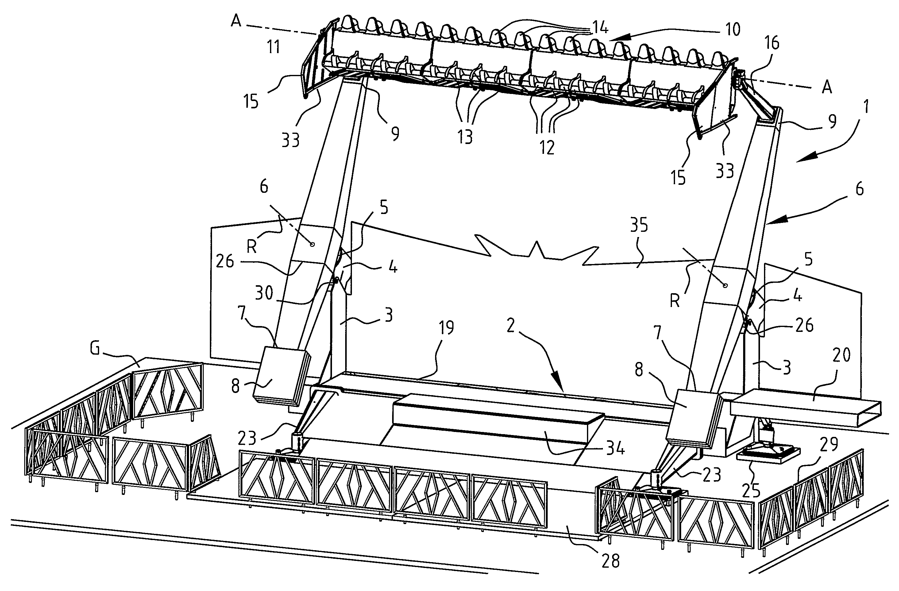 Patent Us20080026858 Fairground Attraction Having A People Carrier Gentex Mirror Wiring Diagram 12 Pin Drawing