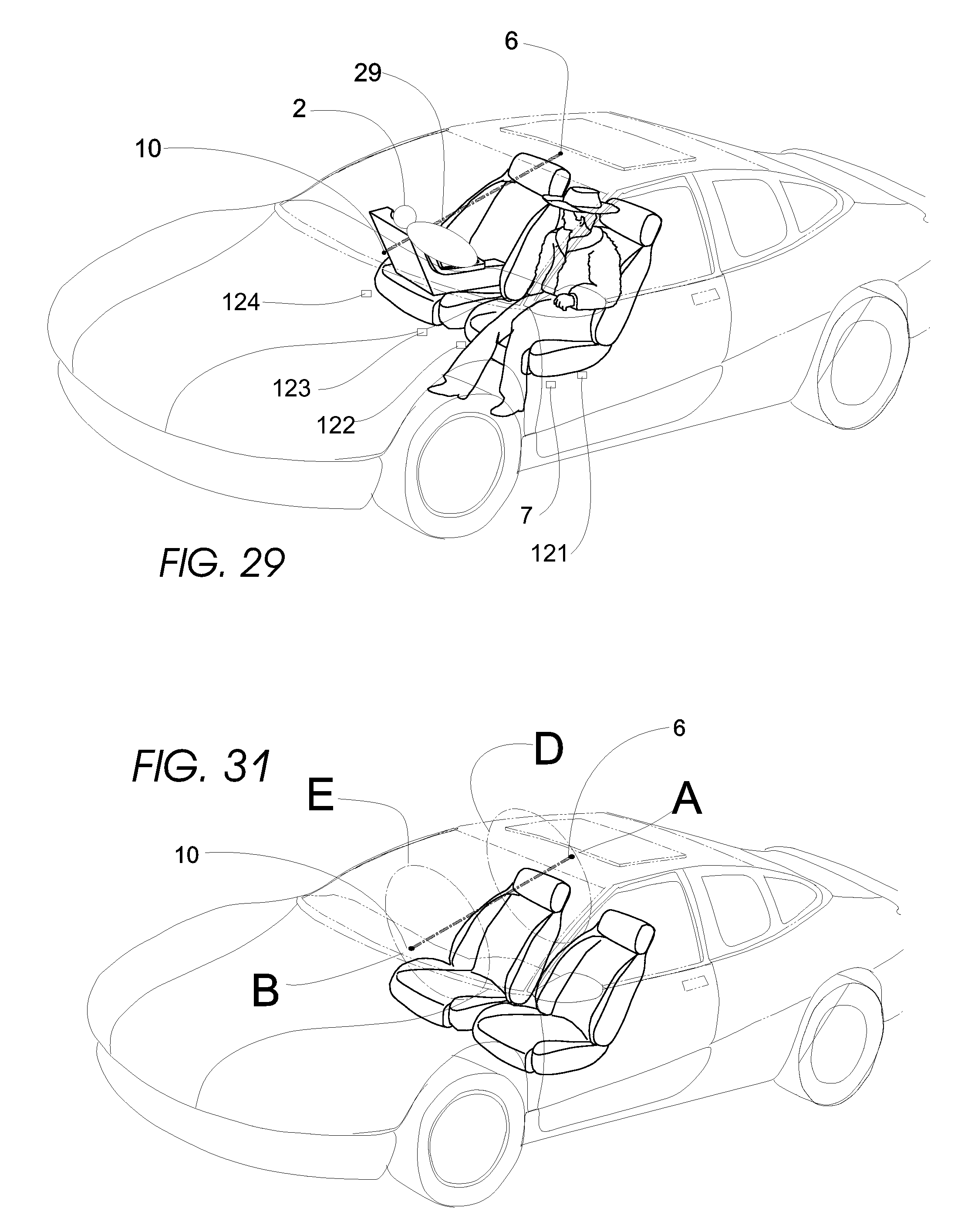 patent us20080036580 optical monitoring of vehicle interiors Custom 08 Ford Fusion patent drawing