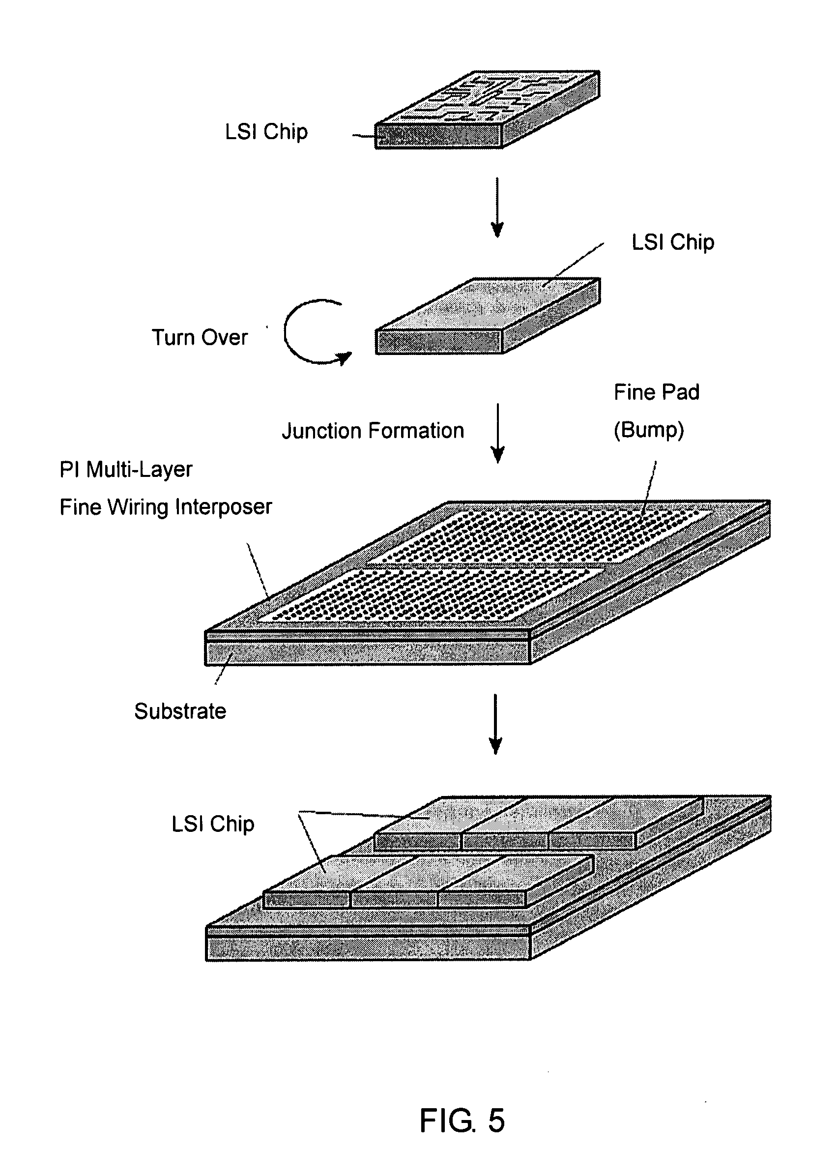 Patent Us20080044950 Multi Layer Fin Wiring Interposer Fabrication Multilayer Board Drawing