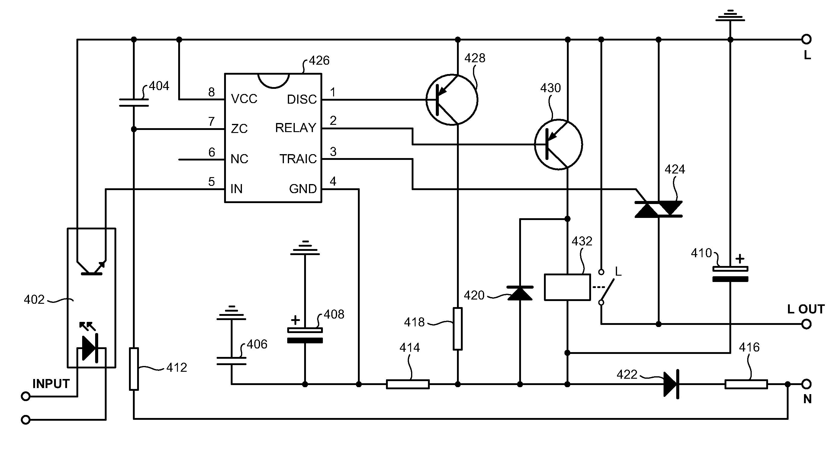 Patent Us20080048807 Electromechanical And Solid State Ac Relay Triac Drawing