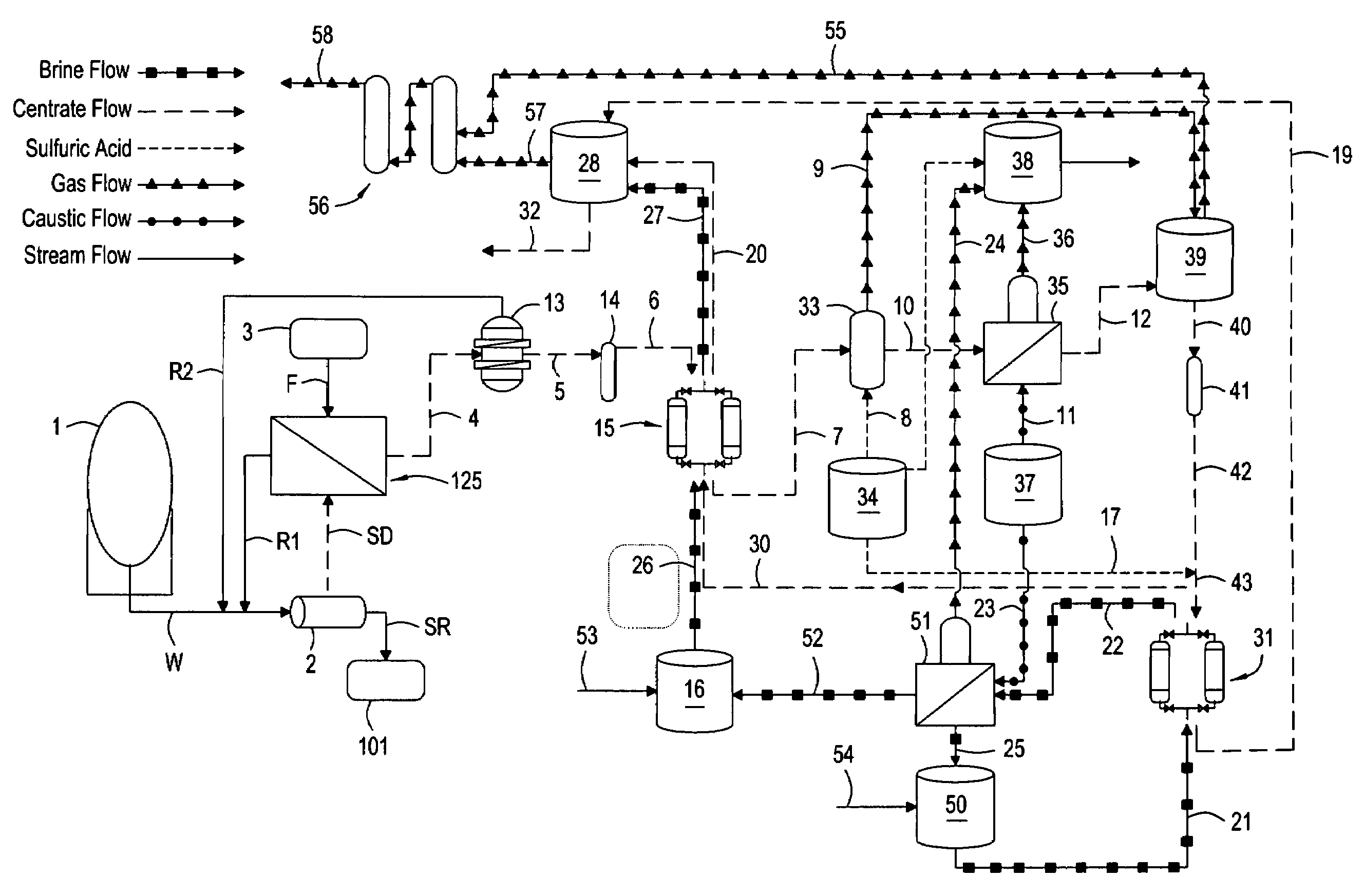 Patent us20080053909 ammonia recovery process google patents patent drawing gamestrikefo Image collections