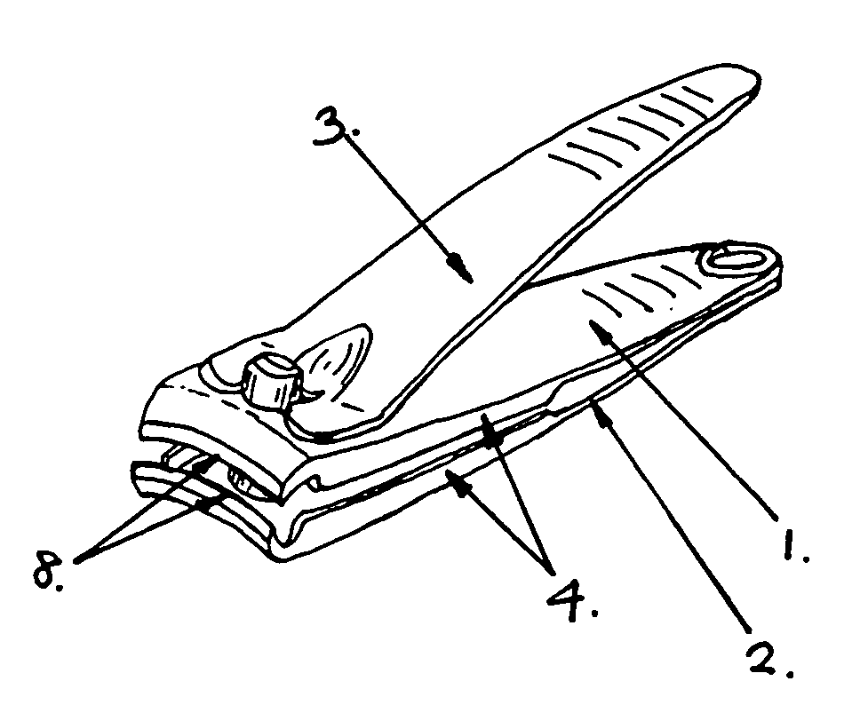 Patent US20080060200 - Nail clipper with catching side ...