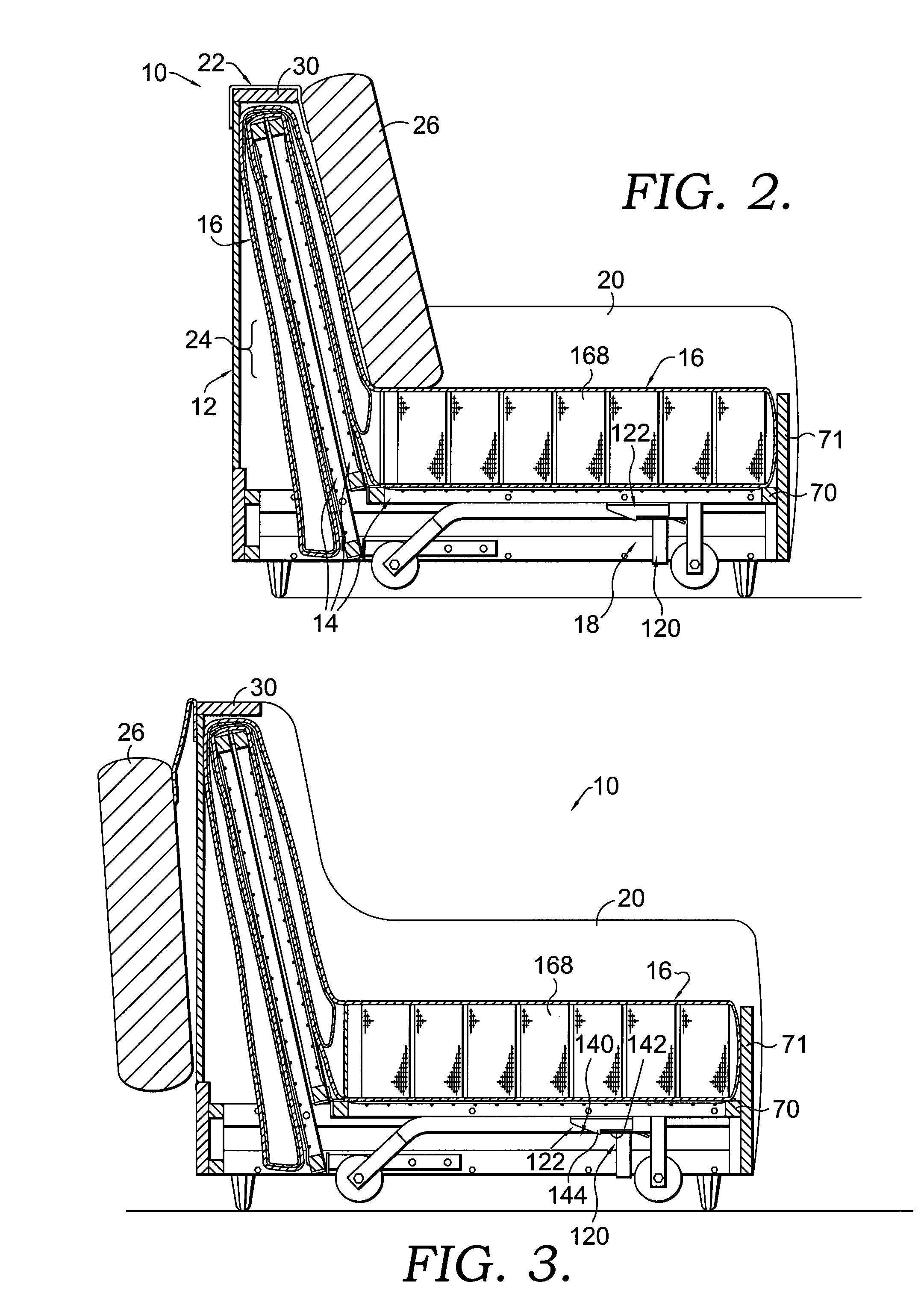 Patent Us20080066227 Folding Mechanism For A Futon Sofa