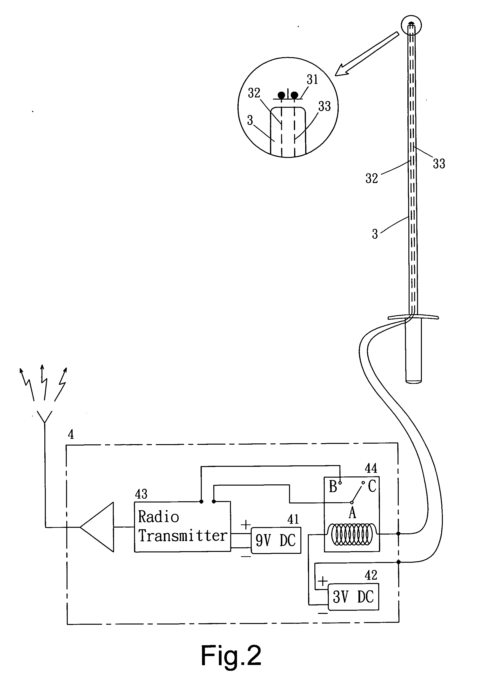 patent us20080084281 wireless scoring machine for epee and foil on simple closed circuit schematics