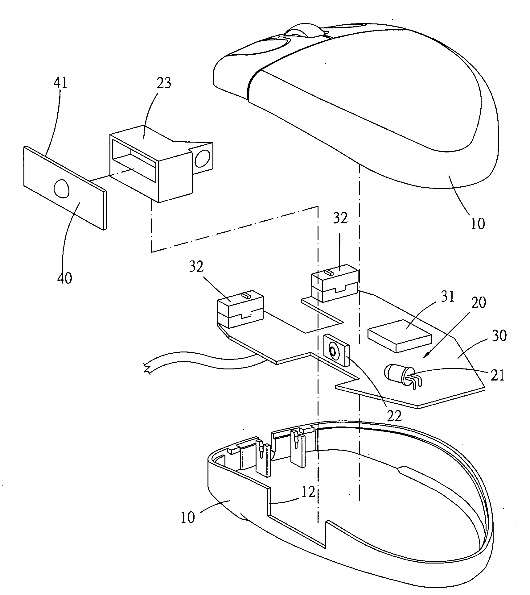 patent us20080084391 - mouse