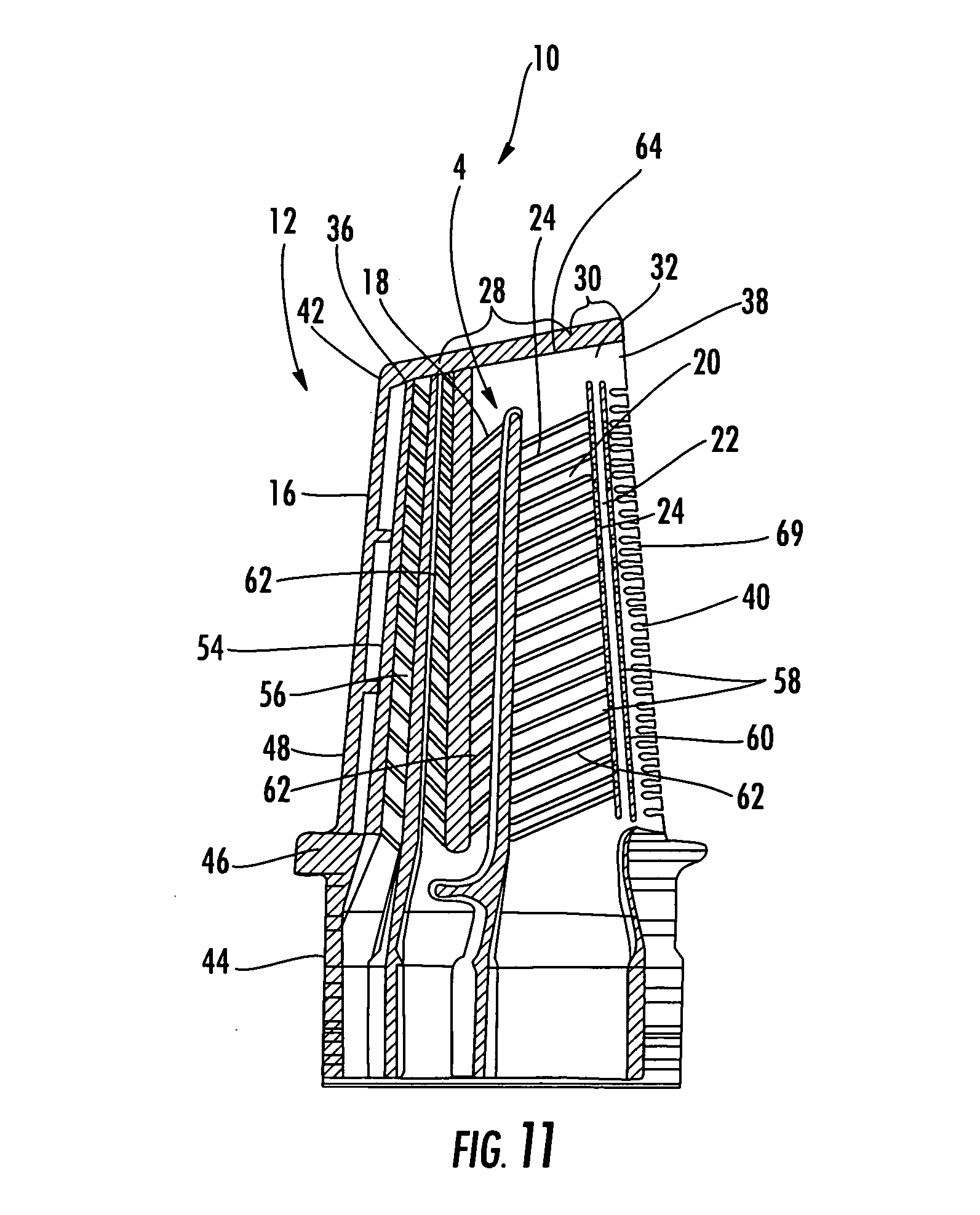 Patent US Turbine airfoil cooling system with
