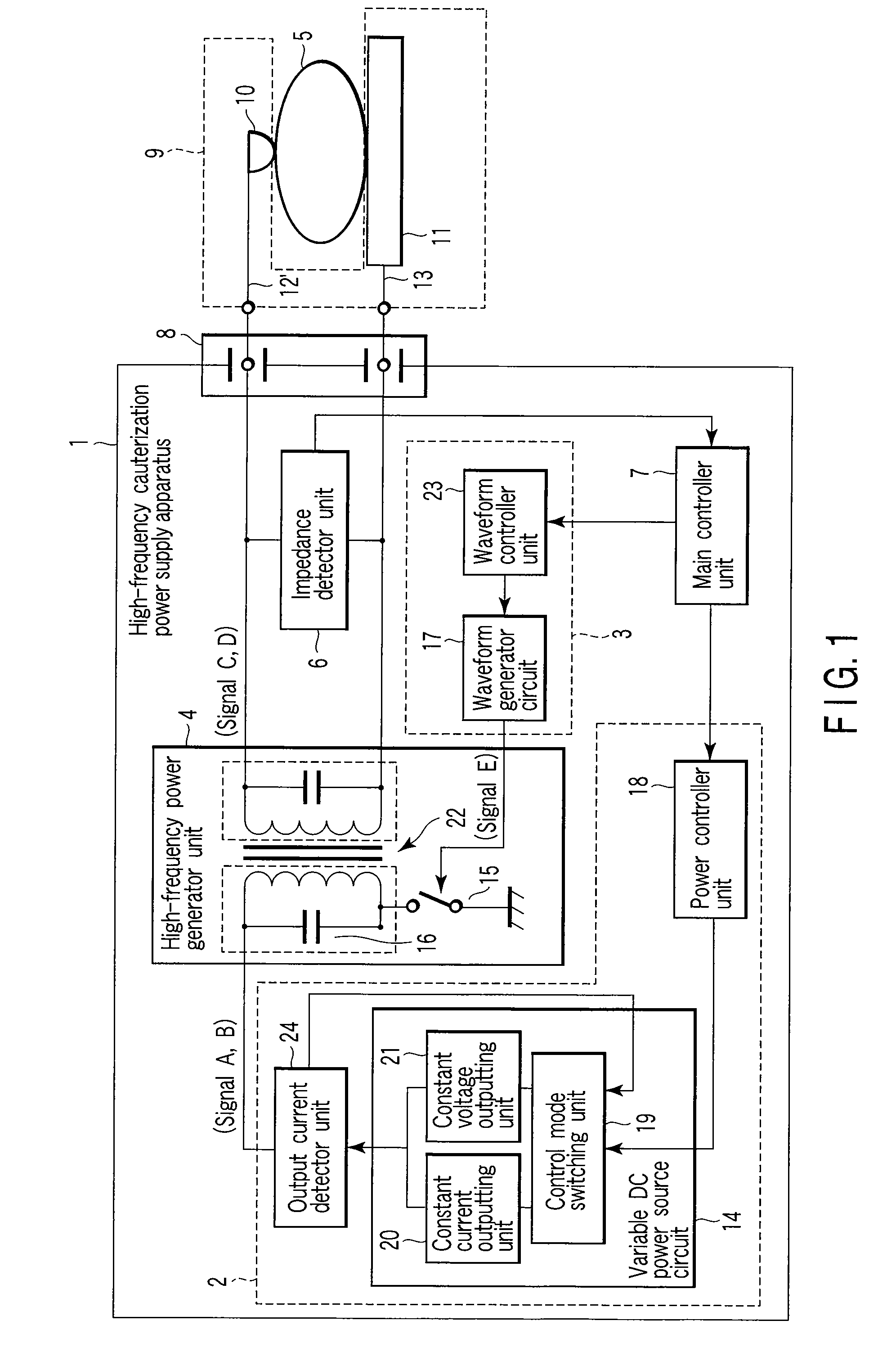 Patent Us20080103495 High Frequency Cauterization Power Supply Circuit Schematics Other Signal Generator Drawing