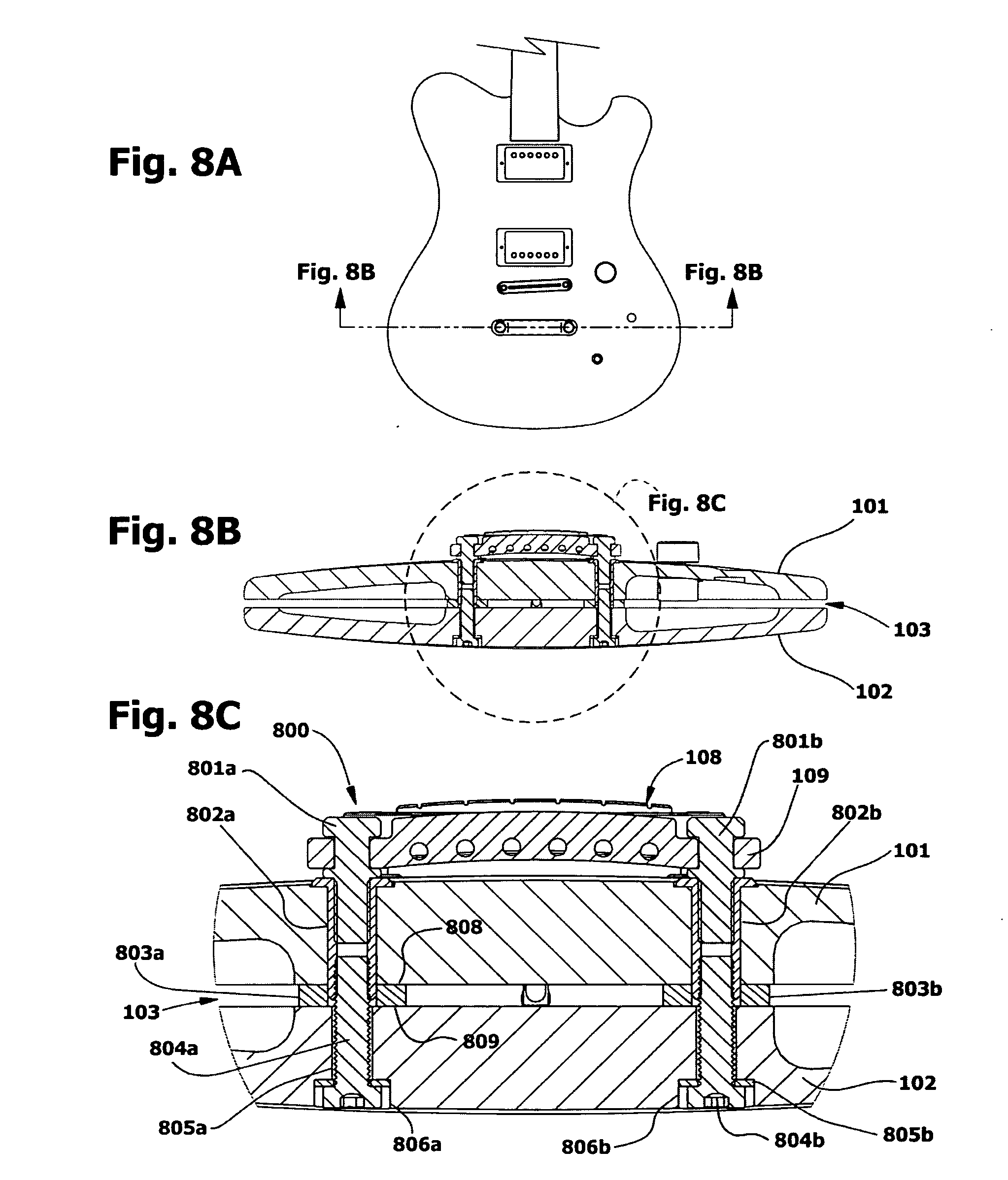 patent us20080105101 - split solid body electric guitars