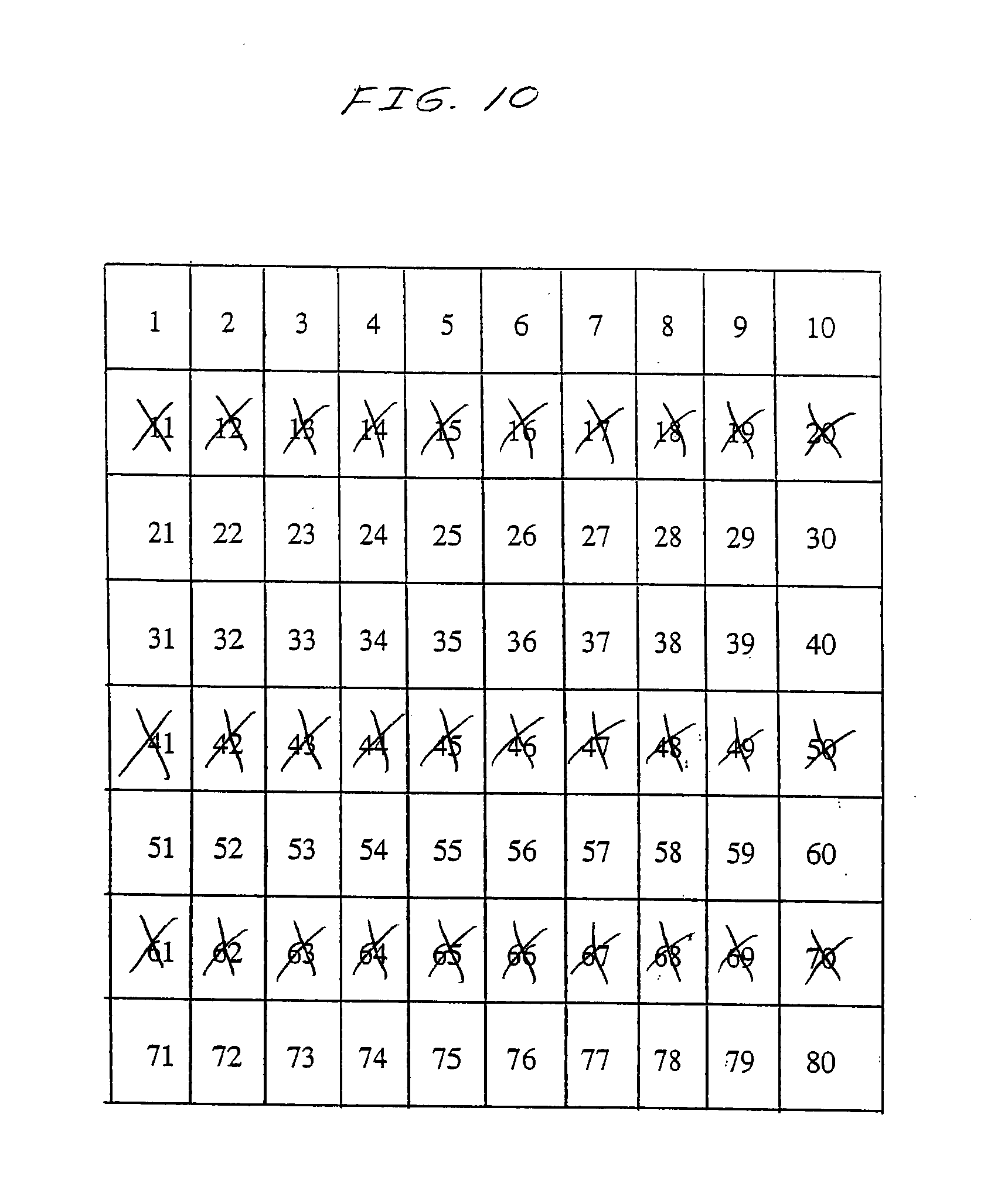 Multi chance keno keno plus how to play object of game winning numbers - Patent Drawing