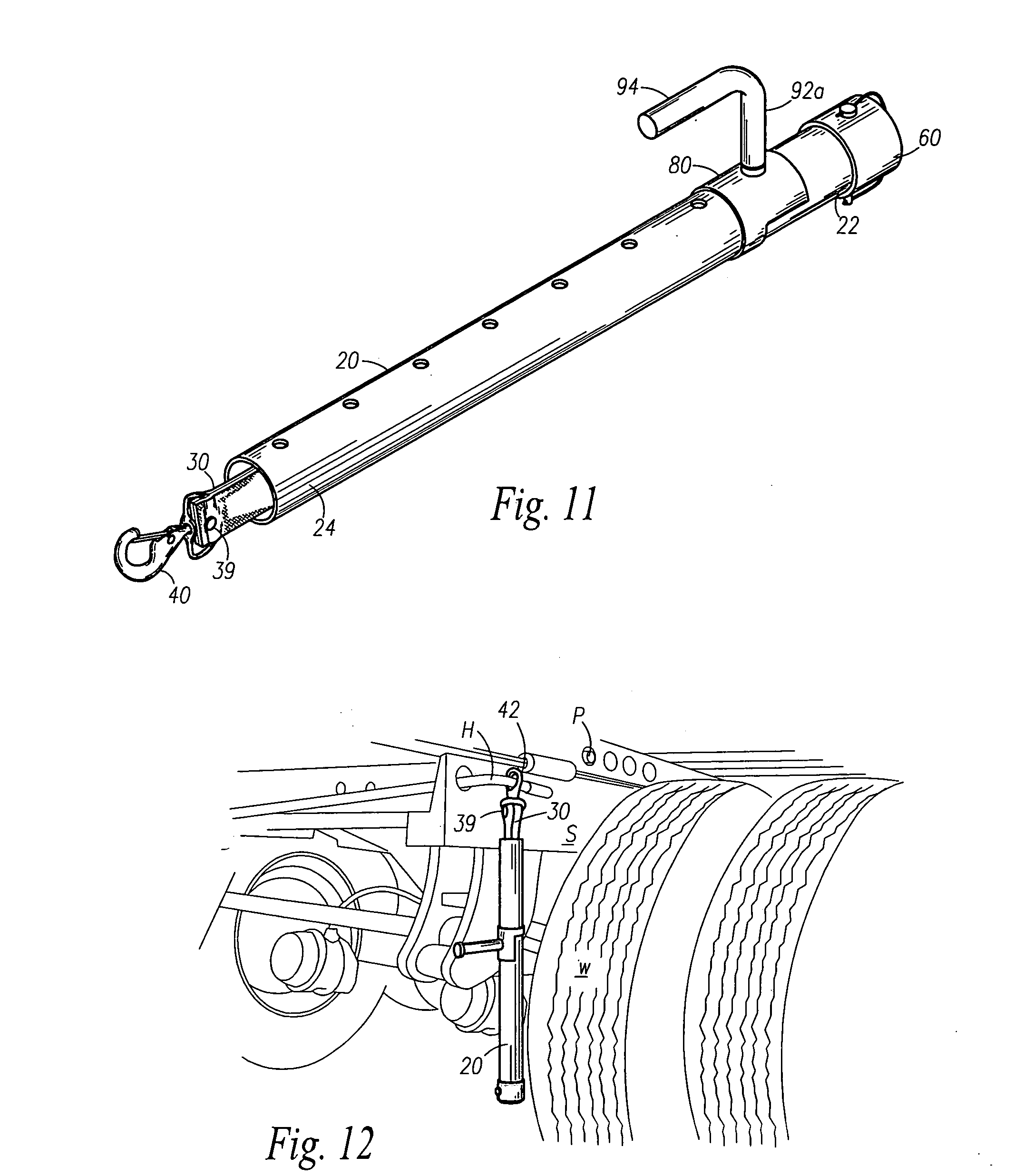 patent us20080173849 - tandem axle trailer pin extracter apparatus