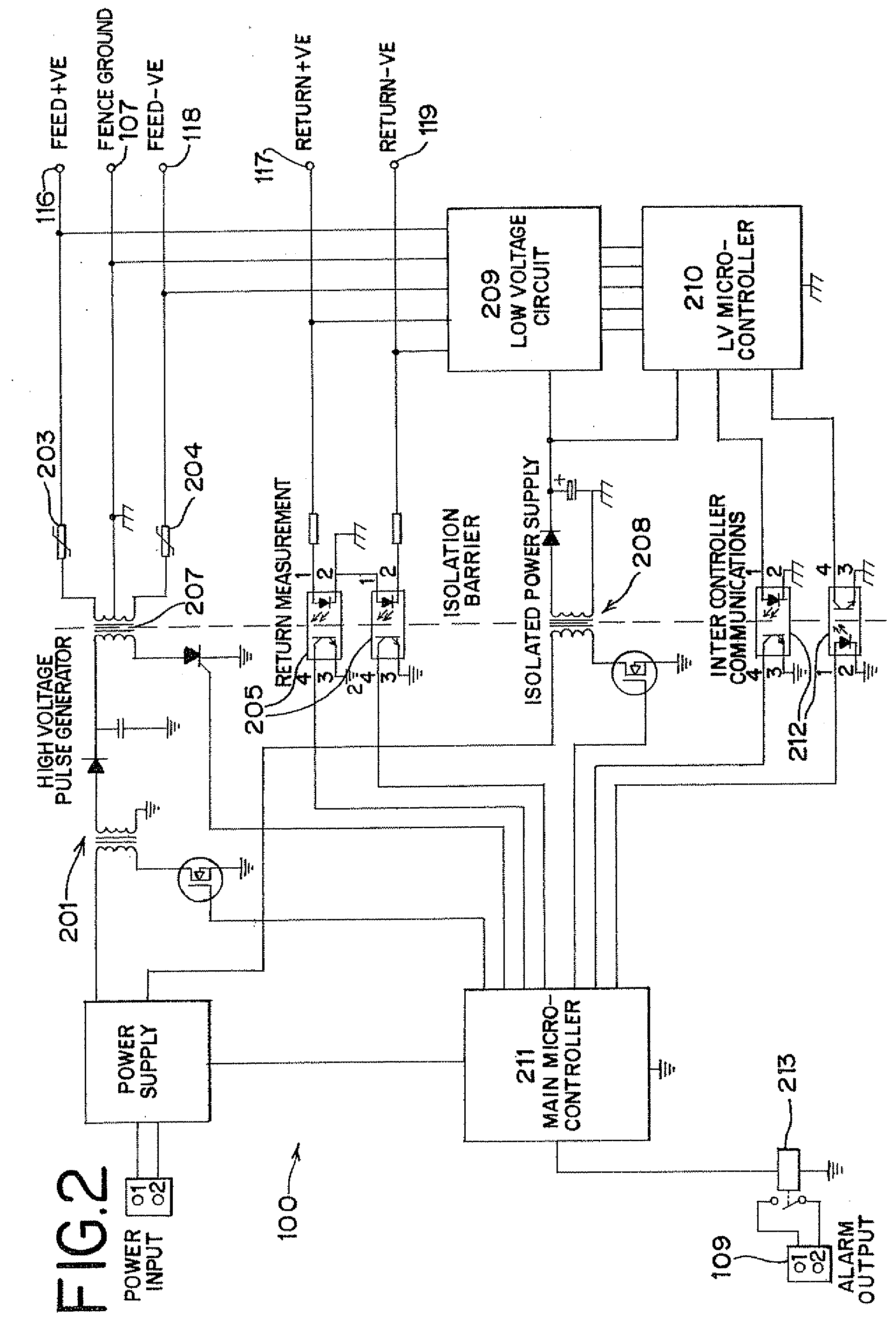 patent us20080186172 - intrusion detection system for electric fences