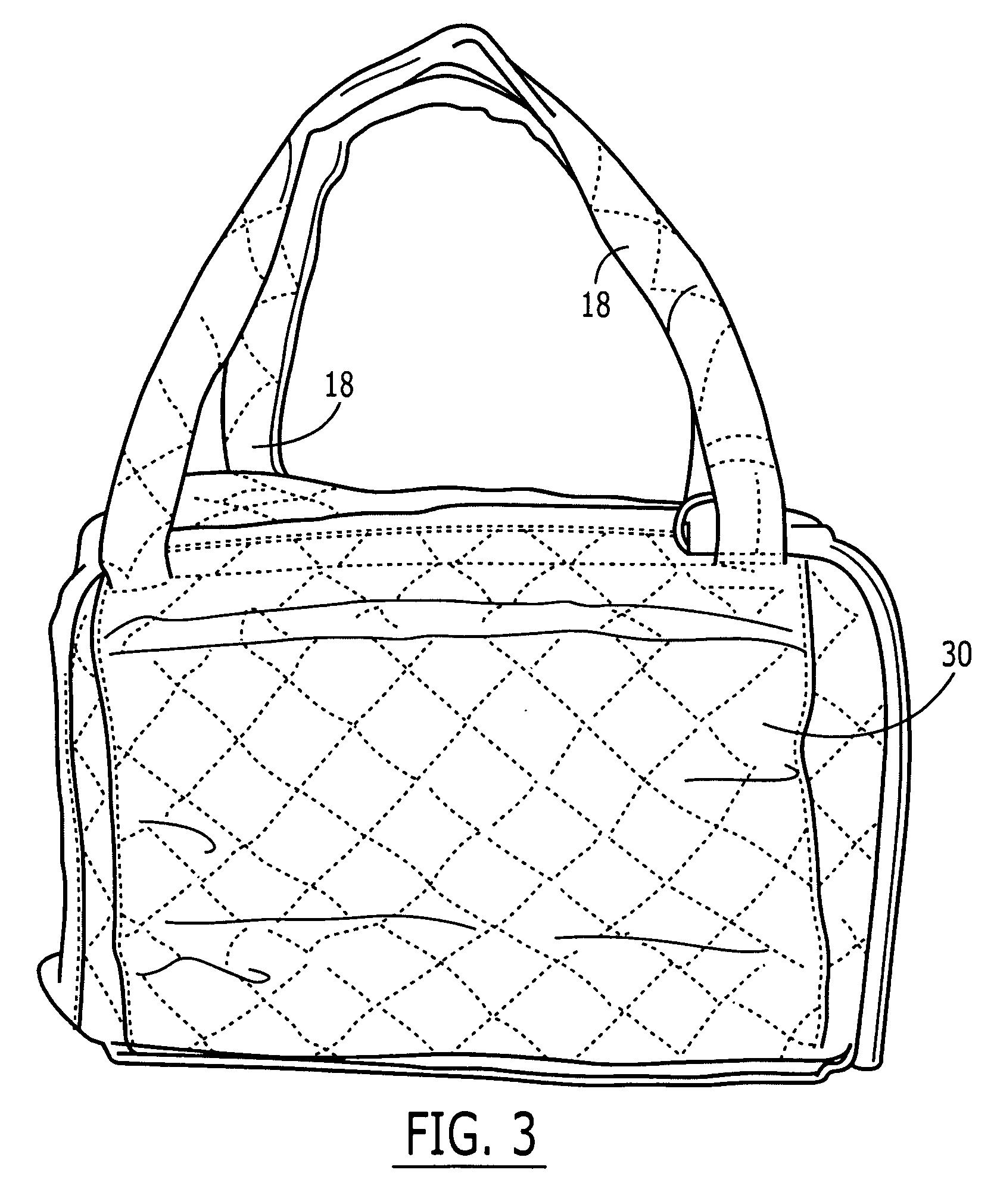 简笔画 挎包手袋