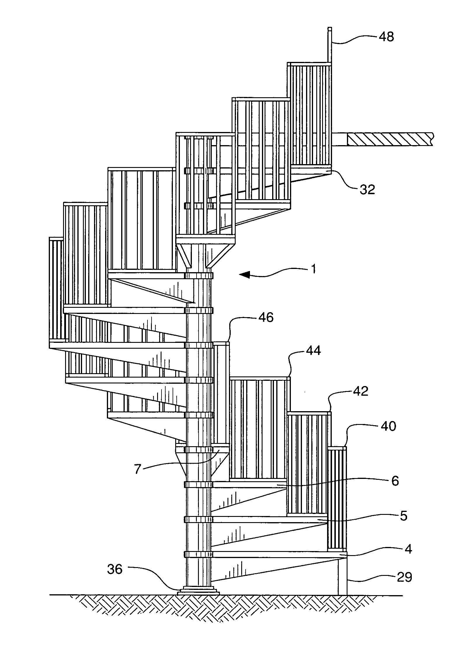 Spiral stairs drawing images for Spiral staircase dwg