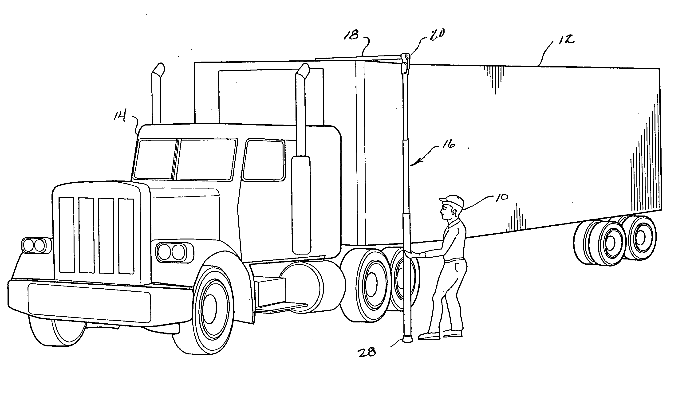 patent us20080244921 truck height measurement pole google patents