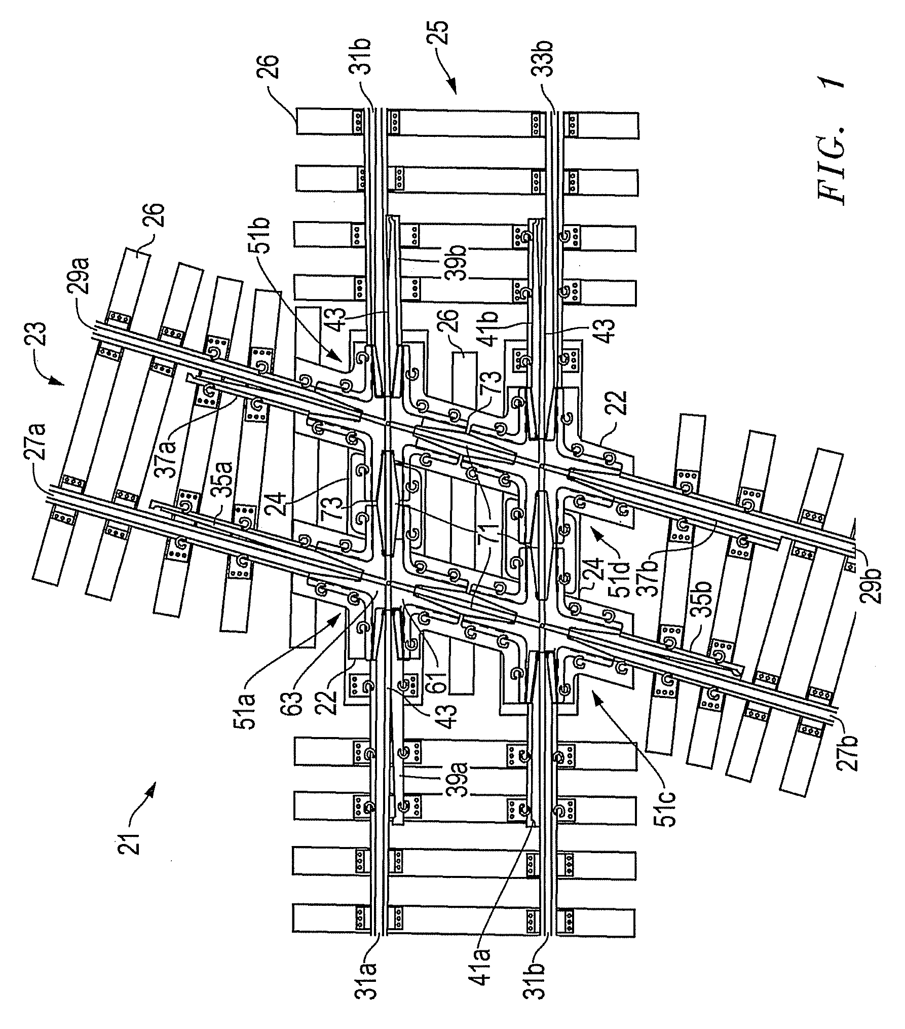 patent us20080245931 - railway diamond crossing