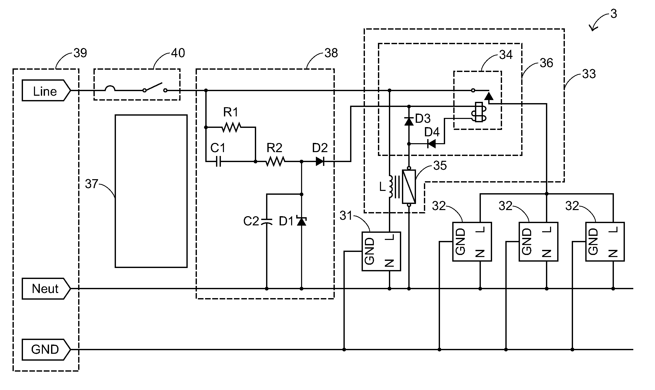 US20080261453A1 20081023 D00000 patent us20080261453 power strip device google patents Leviton Switches Wiring-Diagram at fashall.co