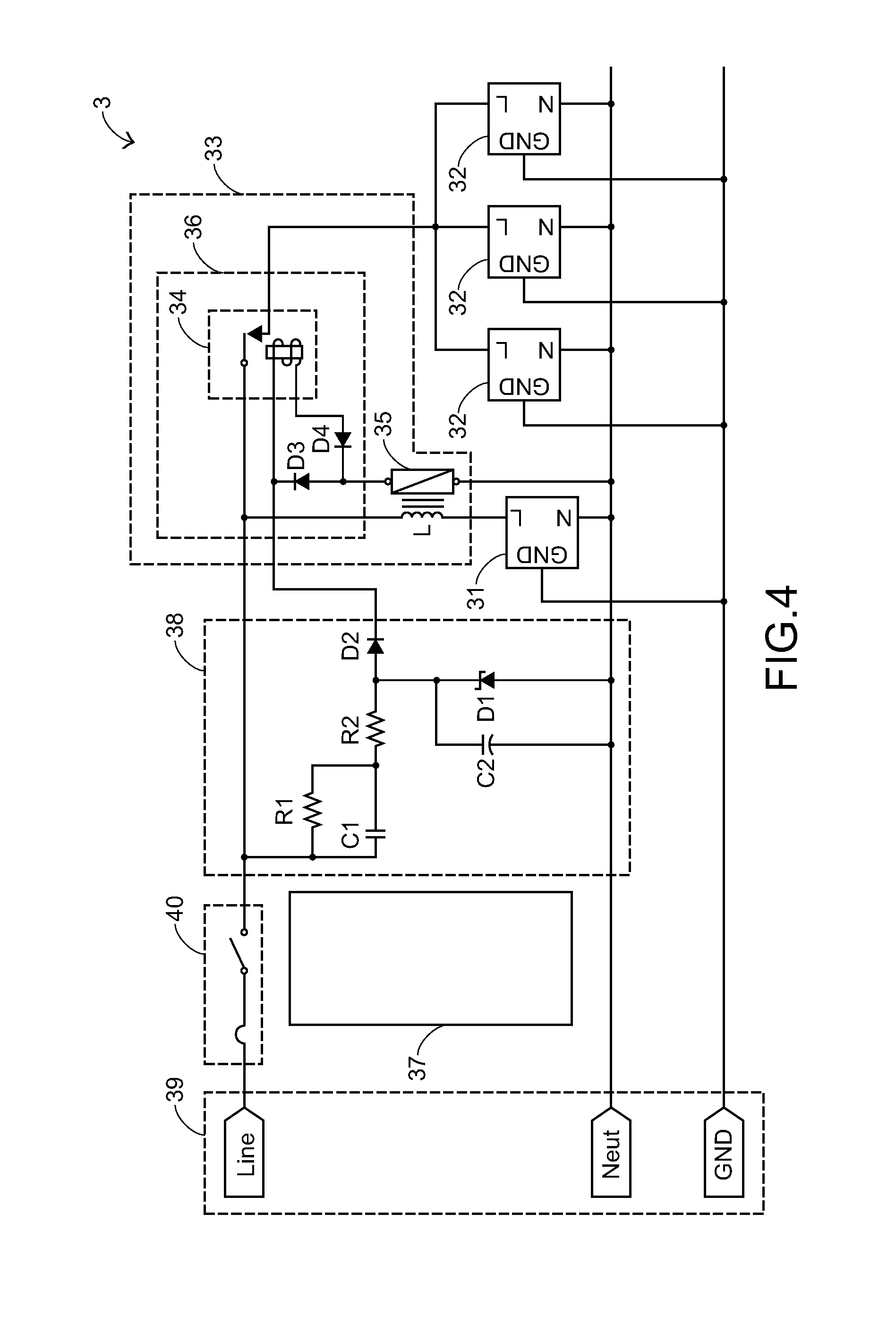 US20080261453A1 20081023 D00004 patent us20080261453 power strip device google patents Leviton Switches Wiring-Diagram at fashall.co